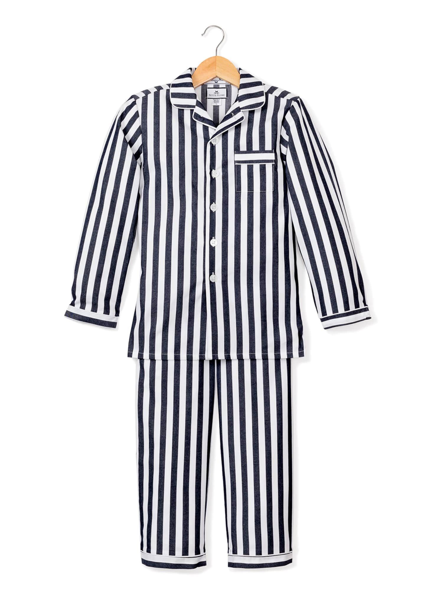 Image 1 of 1: Modern Stripe Pajama Set, Size 6M-14