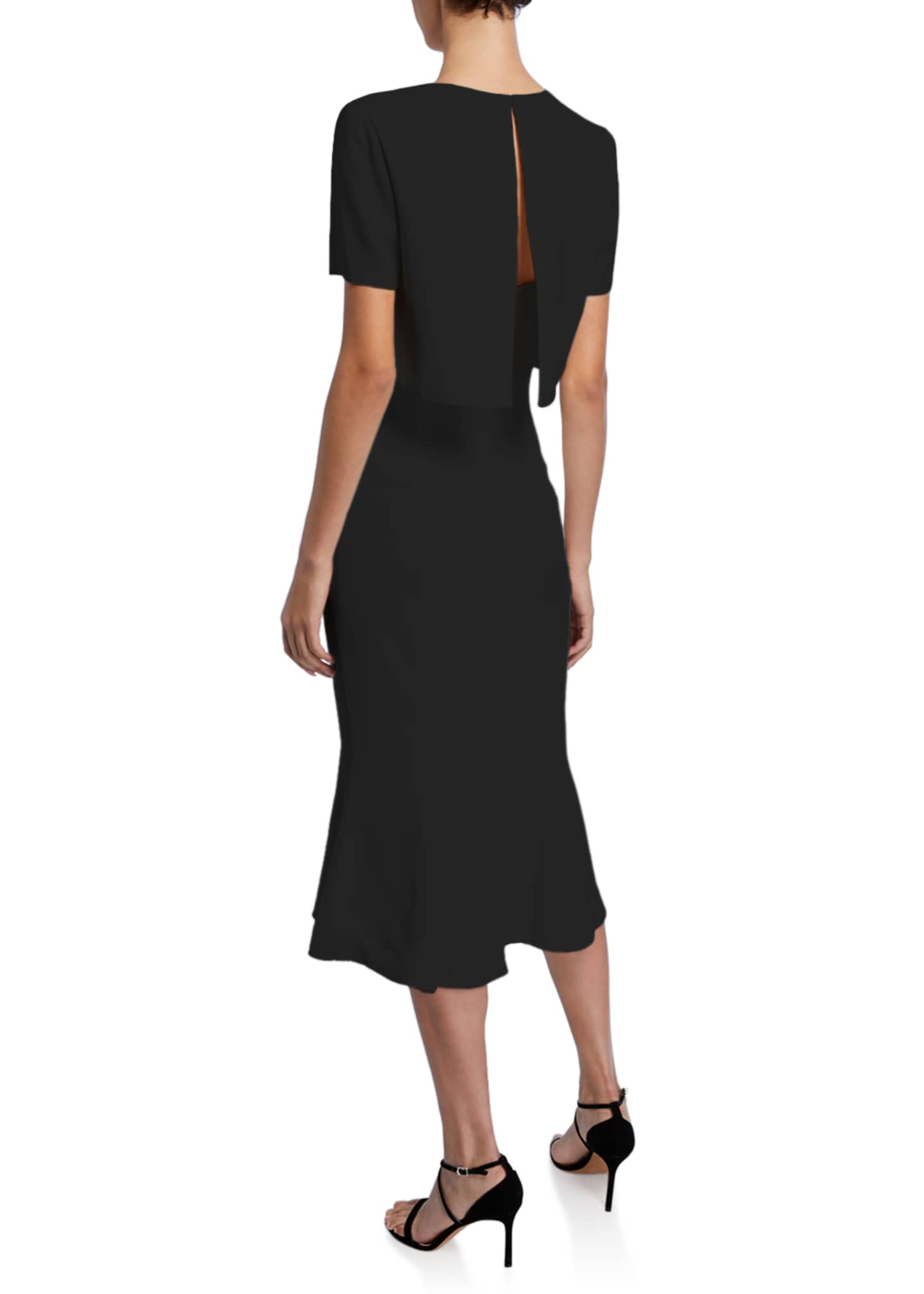 Image 2 of 2: Convertible Soft Crepe Midi Dress