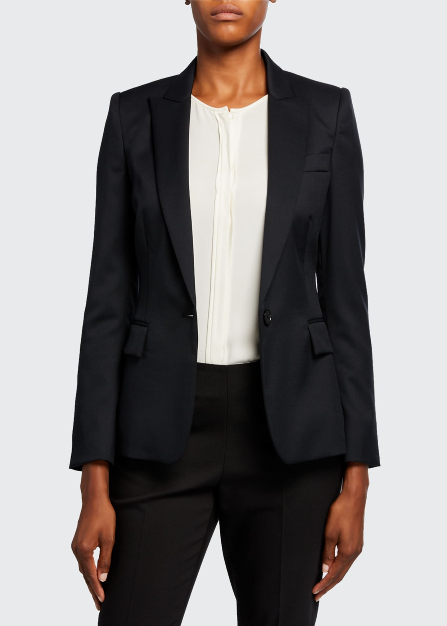 Image 3 of 3: Ingrid Classic Wool Tailoring Jacket