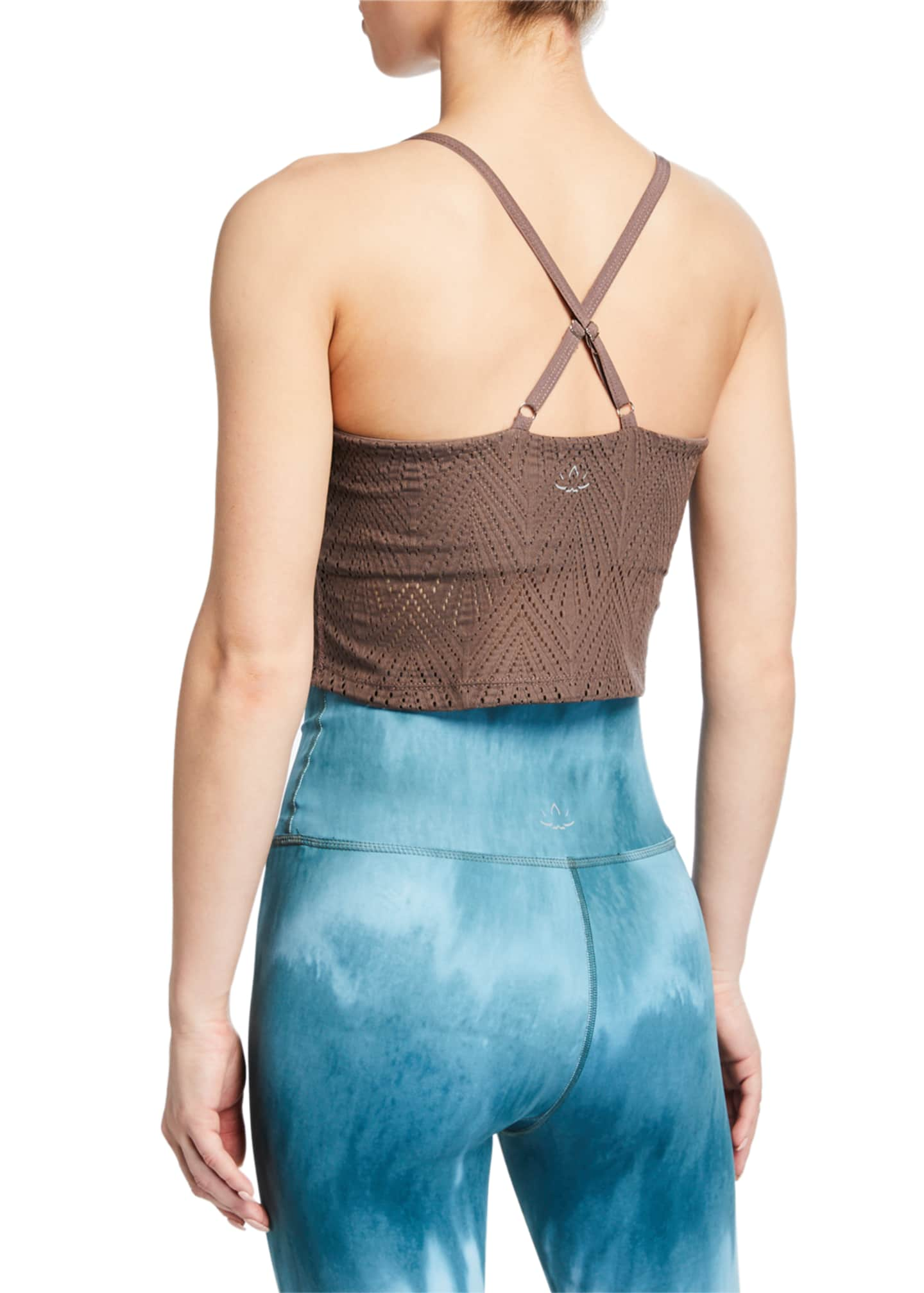 Image 2 of 2: Mesh In Line Cropped Tank