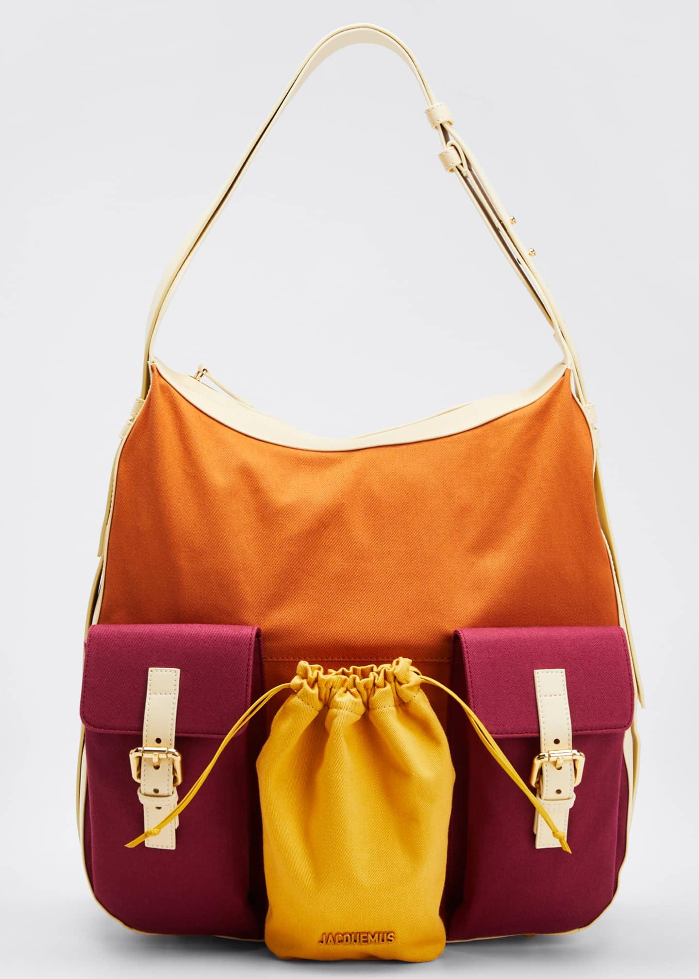 Jacquemus Cotton Le Iba Colorblock Hobo Bag