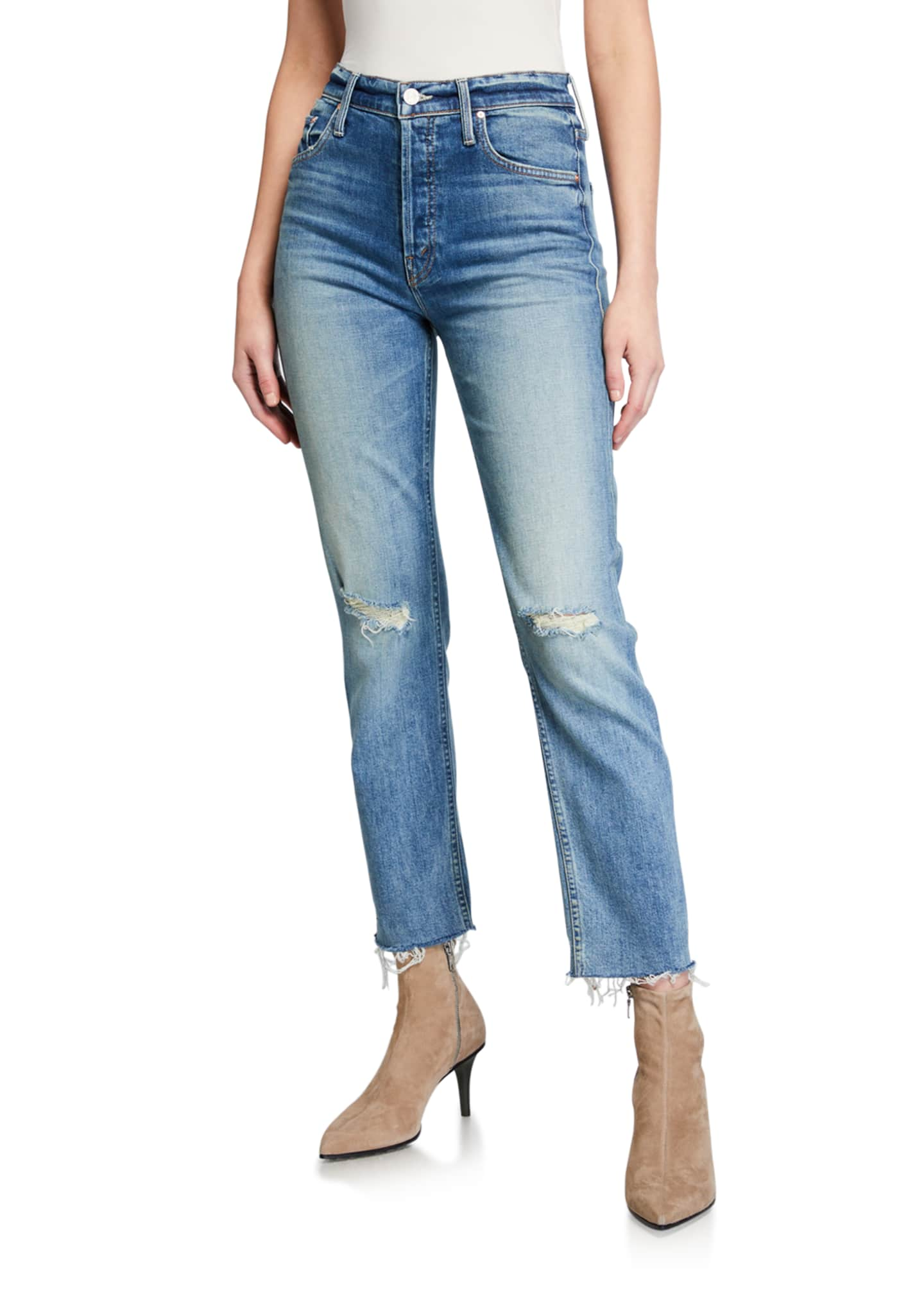 MOTHER The Tomcat Ankle Fray Jeans