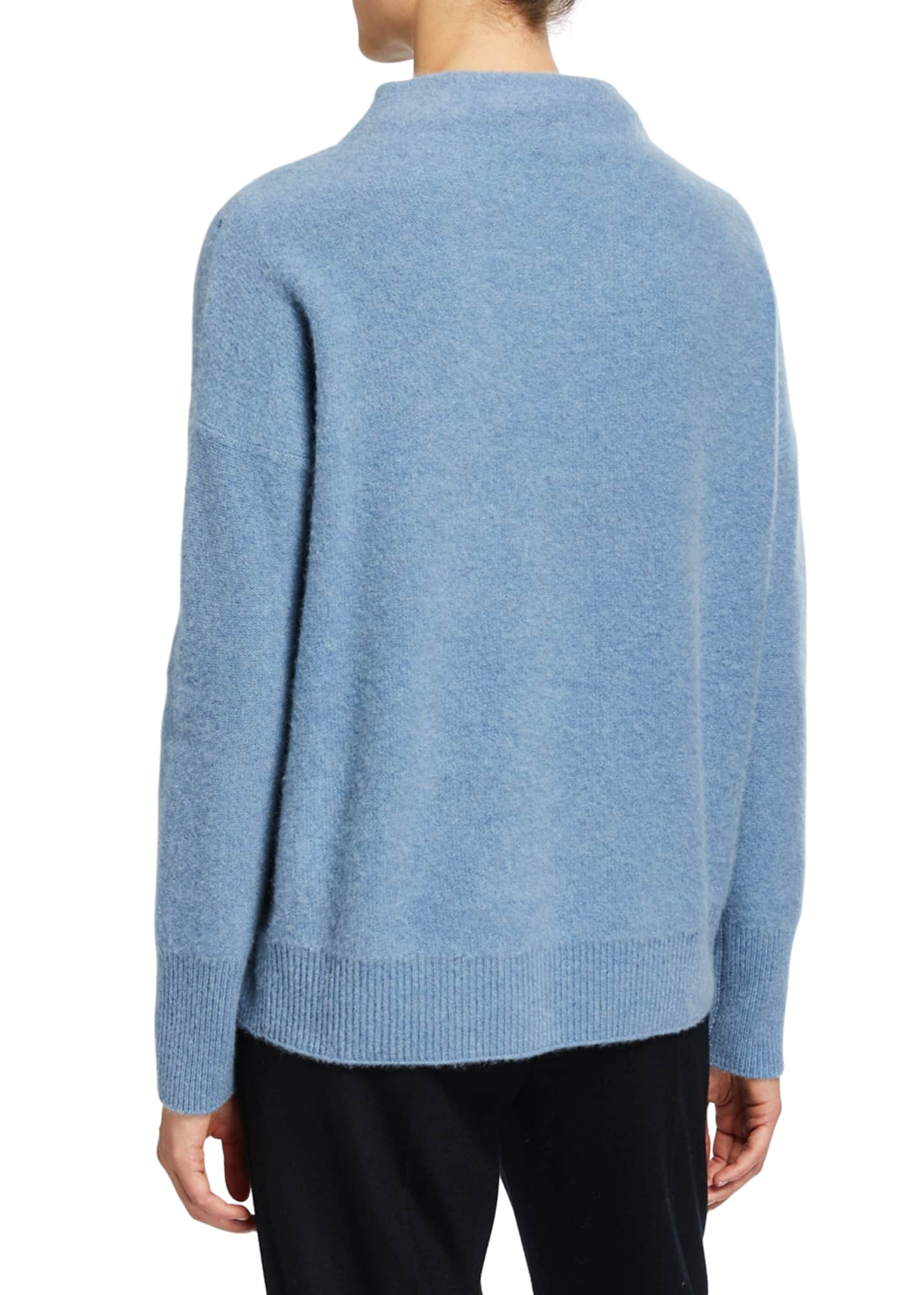 Image 2 of 2: Funnel-Neck Cashmere Sweater