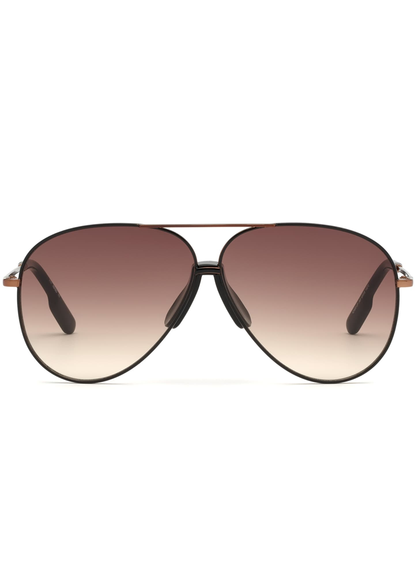 Image 2 of 2: Men's Bronzed Aviator Sunglasses