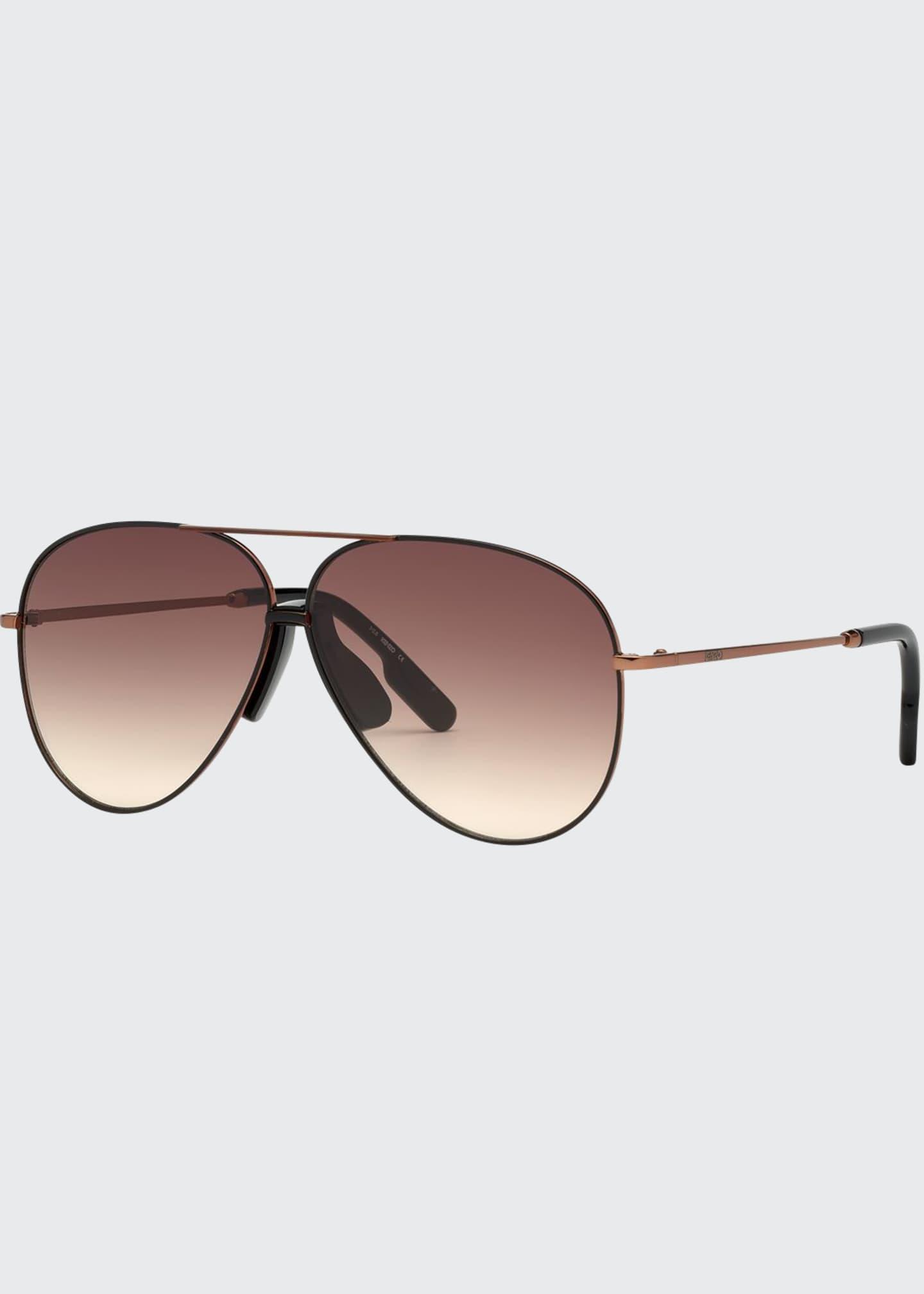 Kenzo Men's Bronzed Aviator Sunglasses
