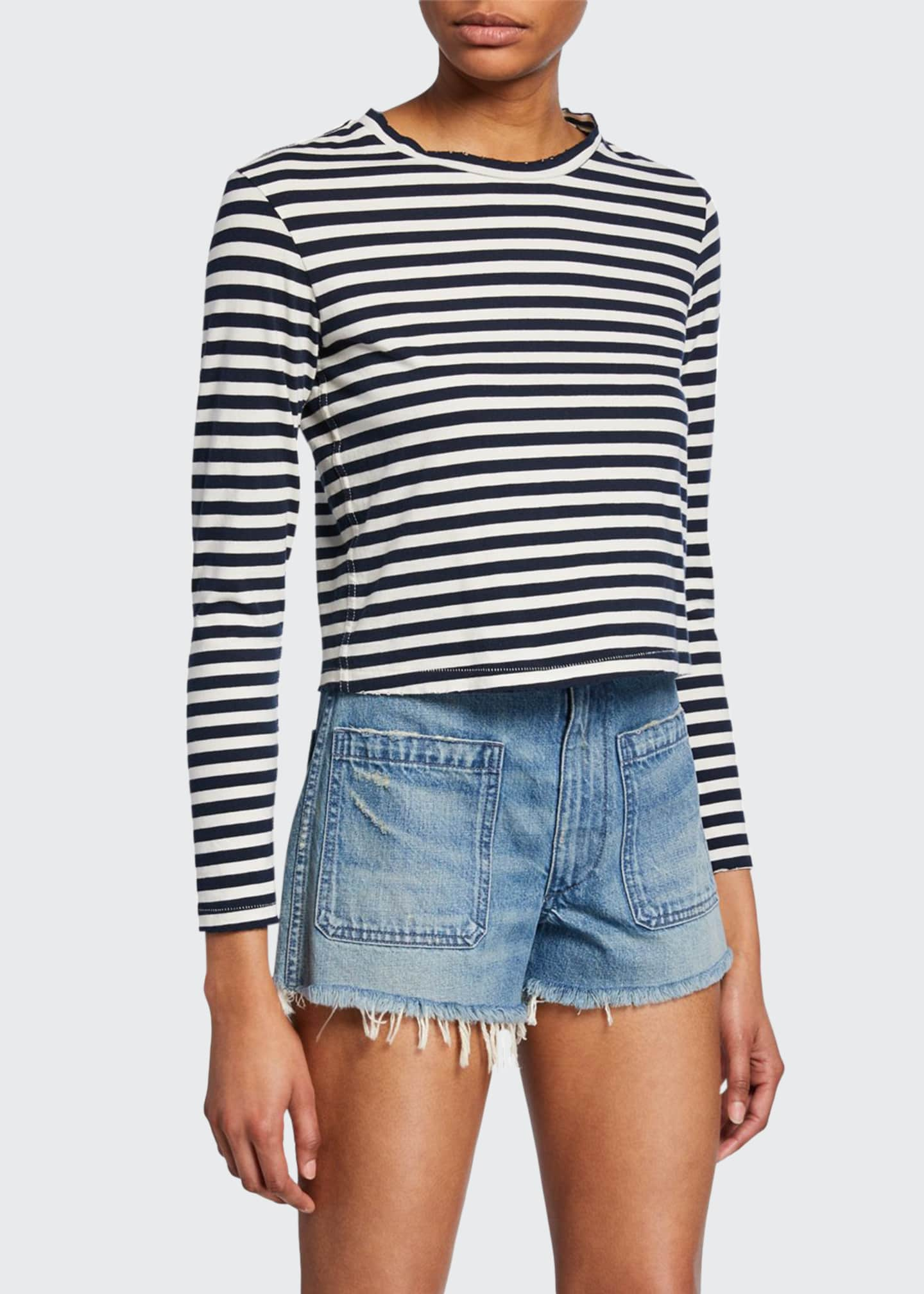 AMO Denim Babe Striped Long-Sleeve Tee