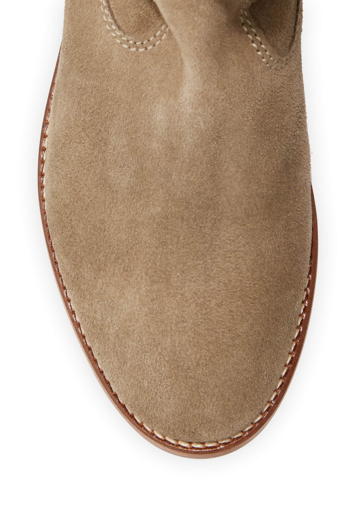Image 3 of 5: Crisi Western Suede Flat Booties