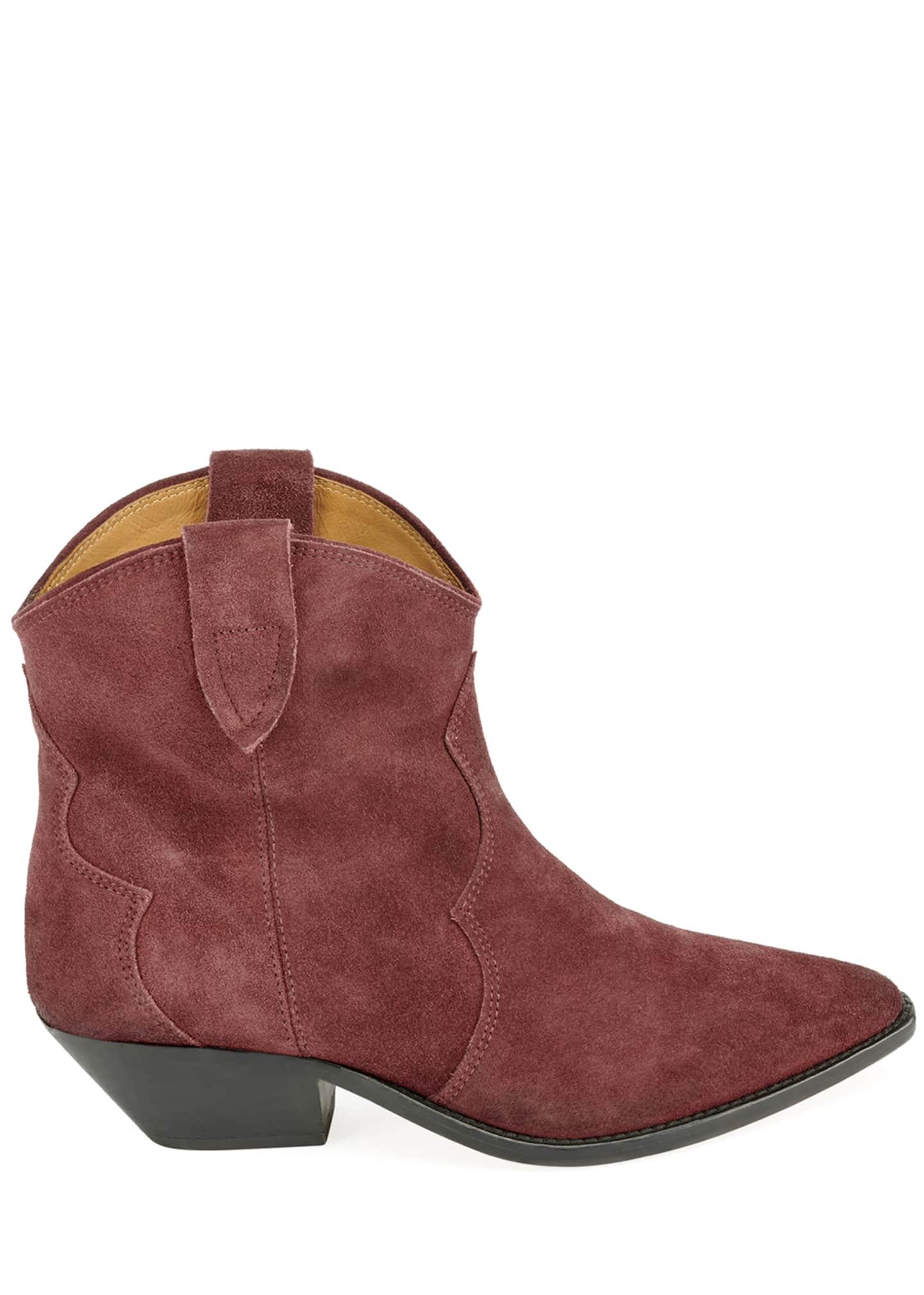 Image 2 of 3: Dewina Suede Pointed Booties