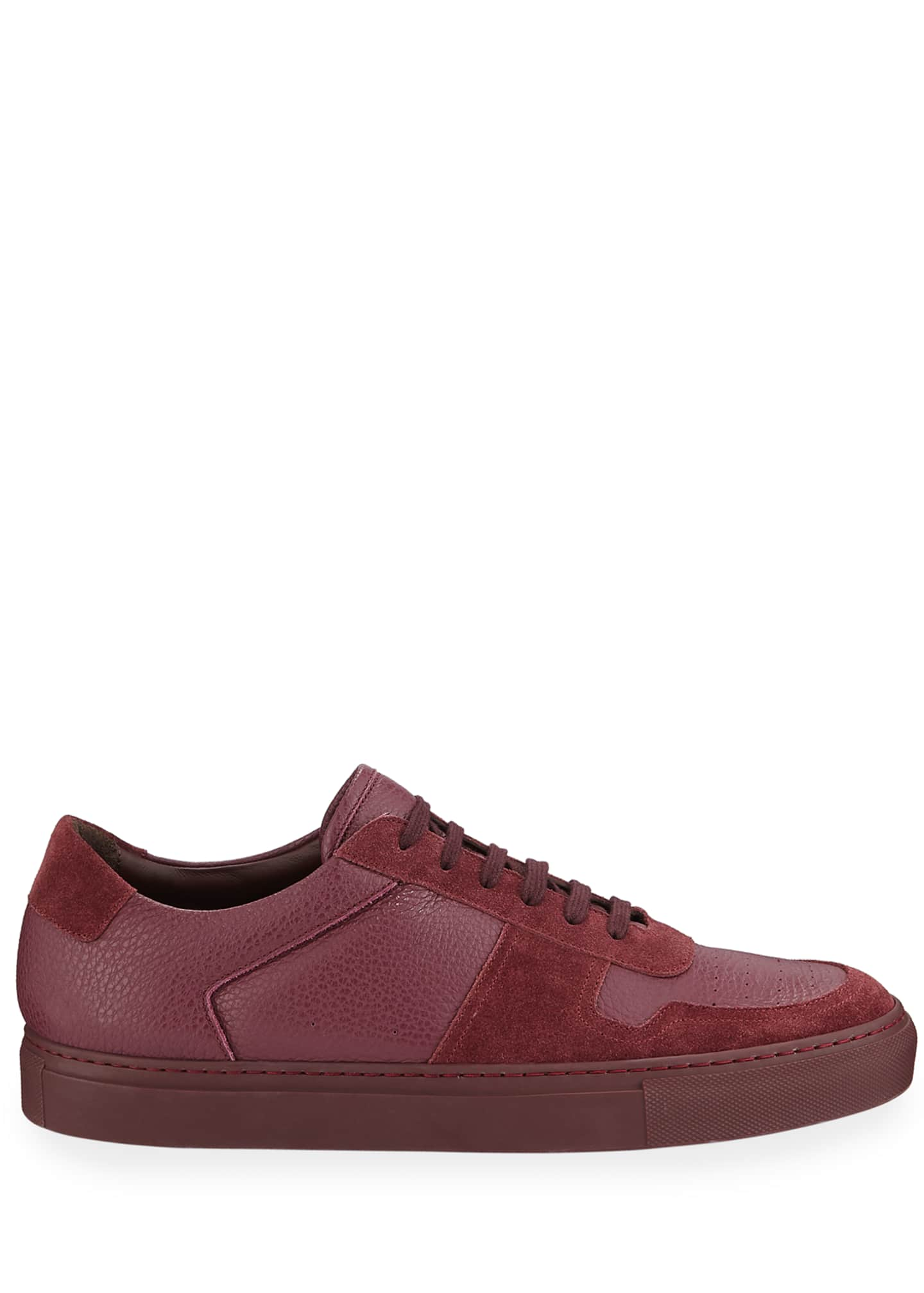 Image 3 of 3: Men's BBall Low-Top Leather Sneakers