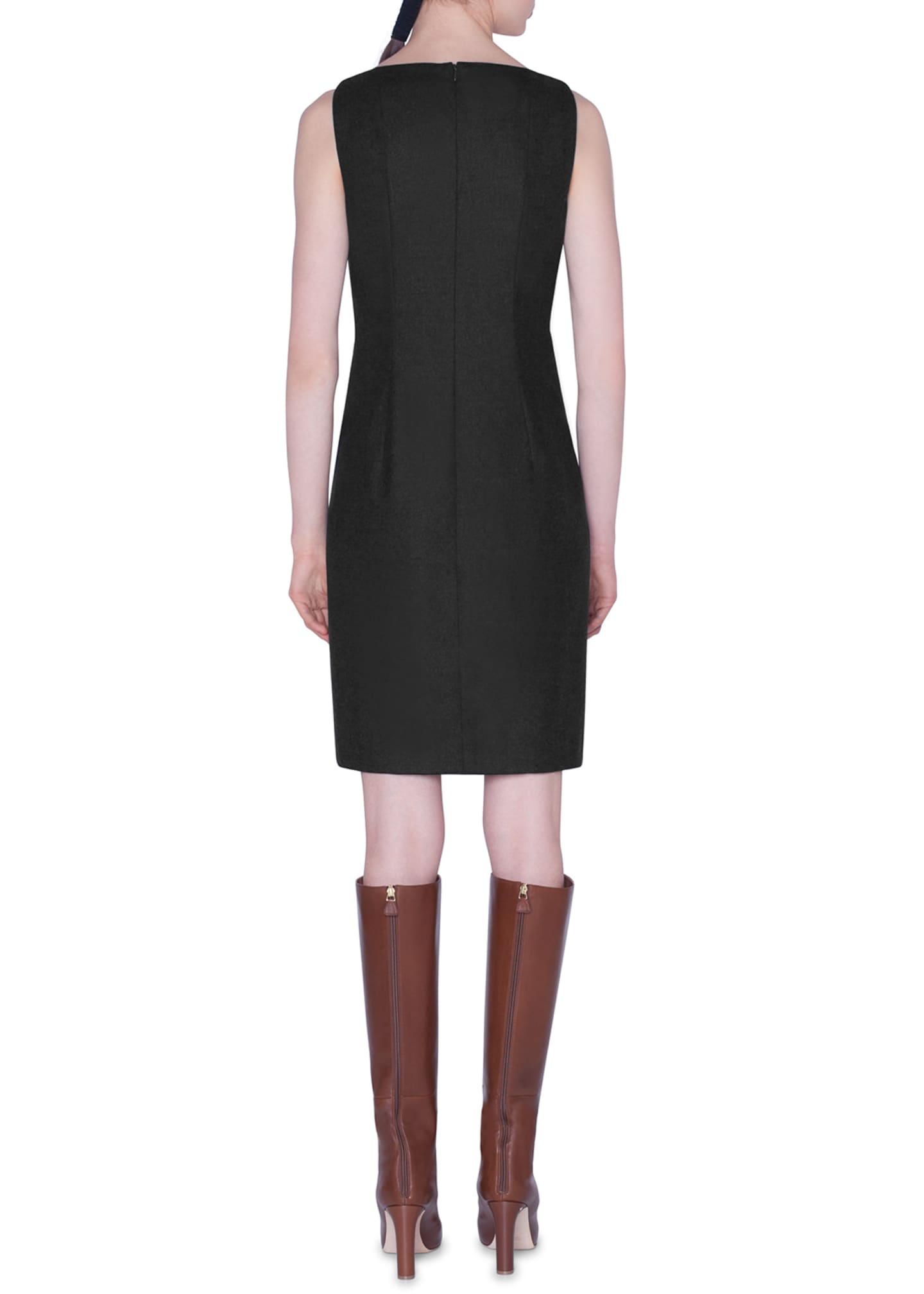 Image 2 of 2: Flannel Sleeveless Sheath Dress