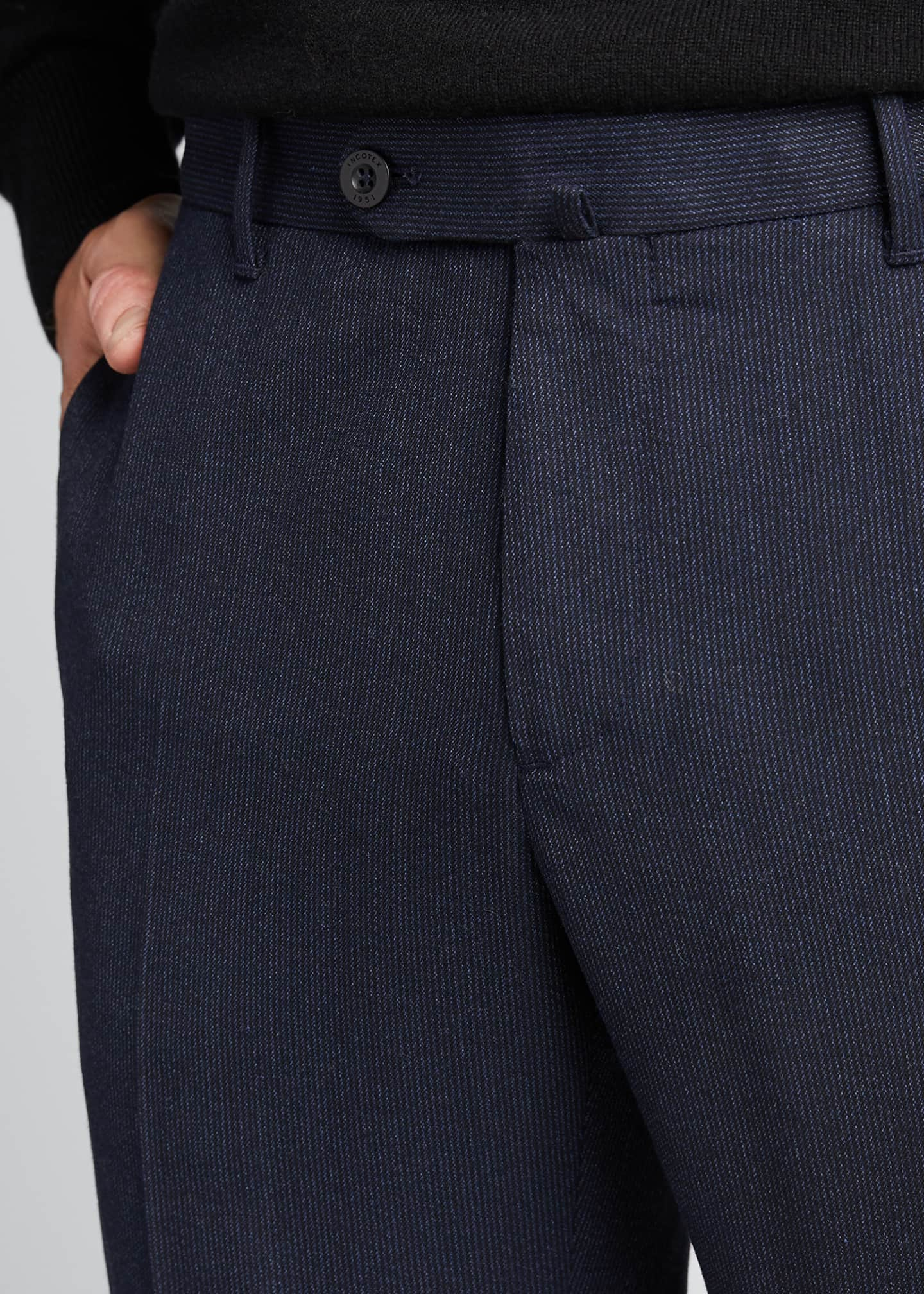 Image 4 of 5: Men's Techno-Flannel Travel Jogger Pants
