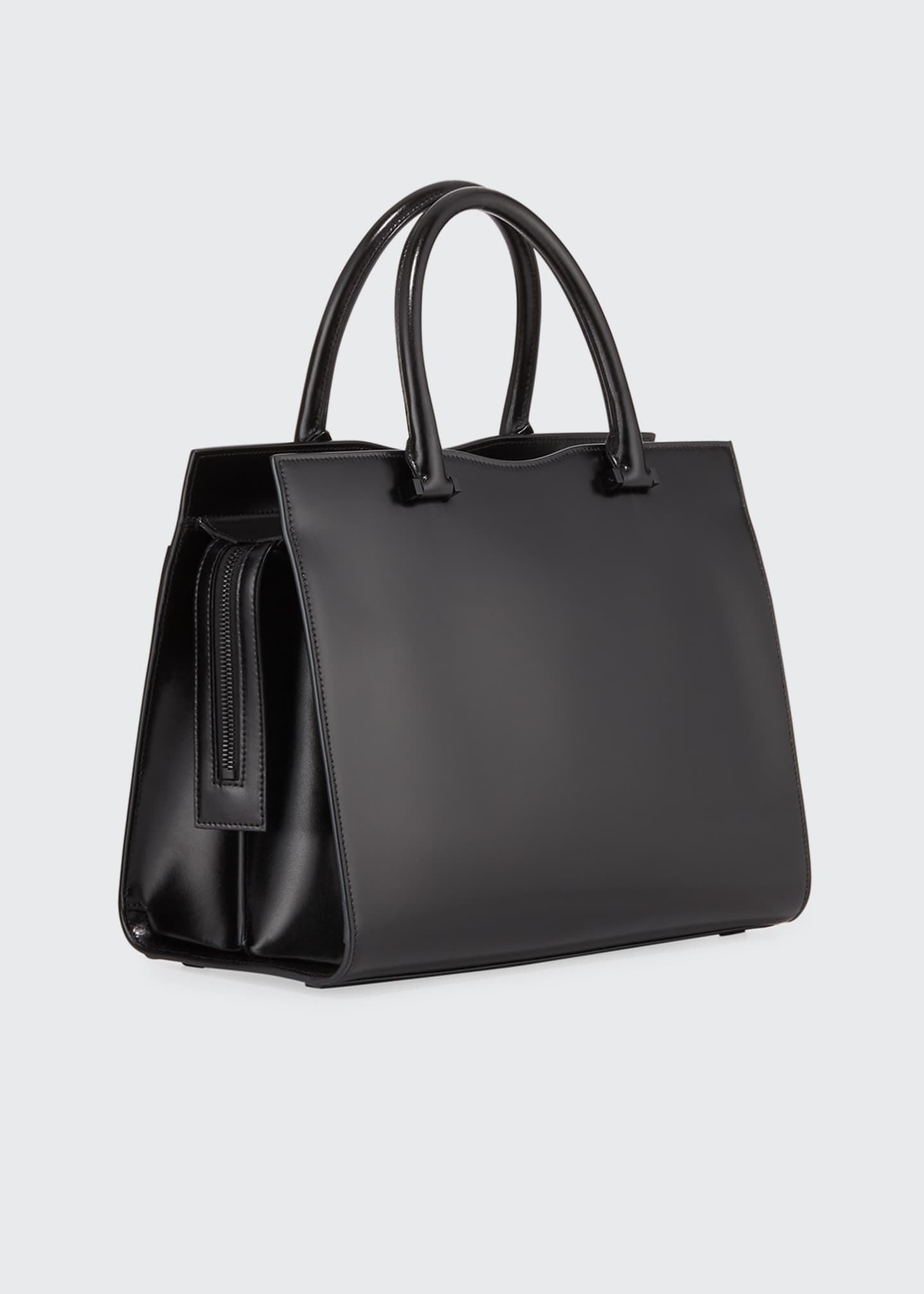 Image 2 of 3: Uptown Medium YSL Leather Tote Bag