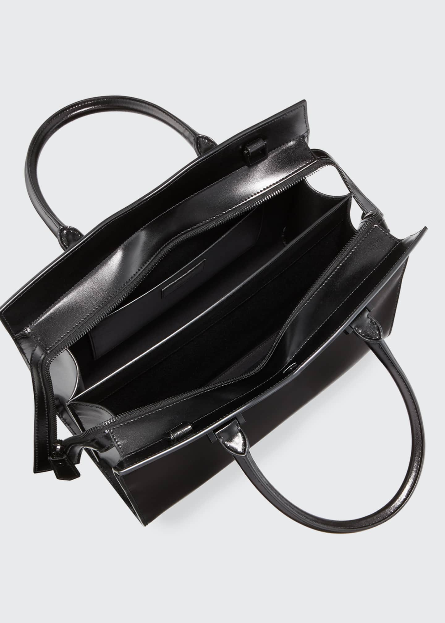 Image 3 of 3: Uptown Medium YSL Leather Tote Bag