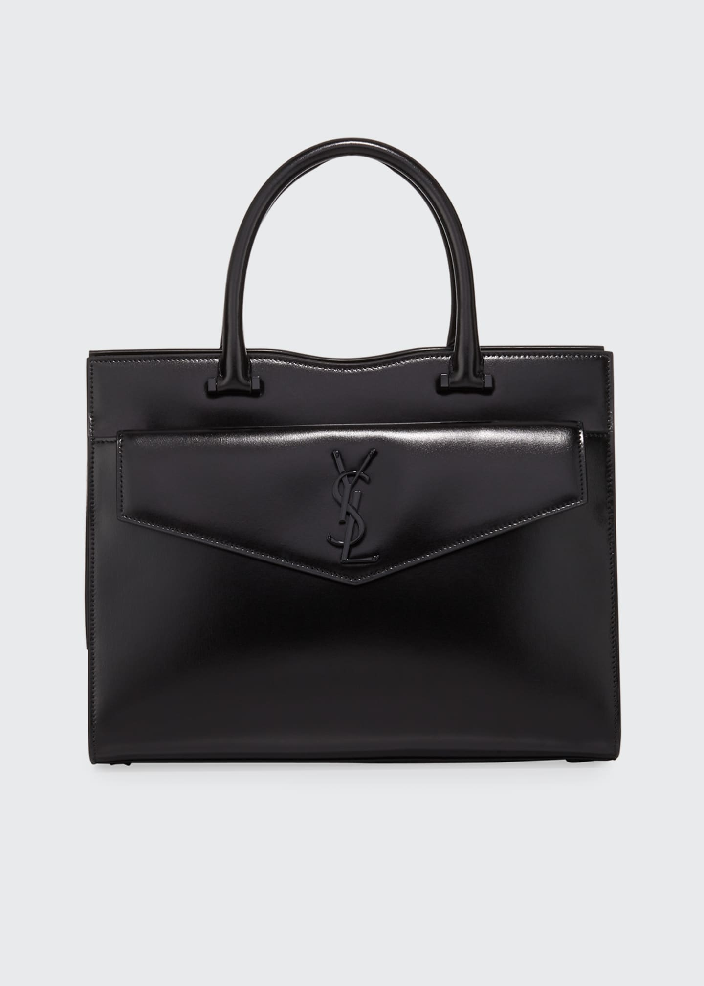 Image 1 of 3: Uptown Medium YSL Leather Tote Bag