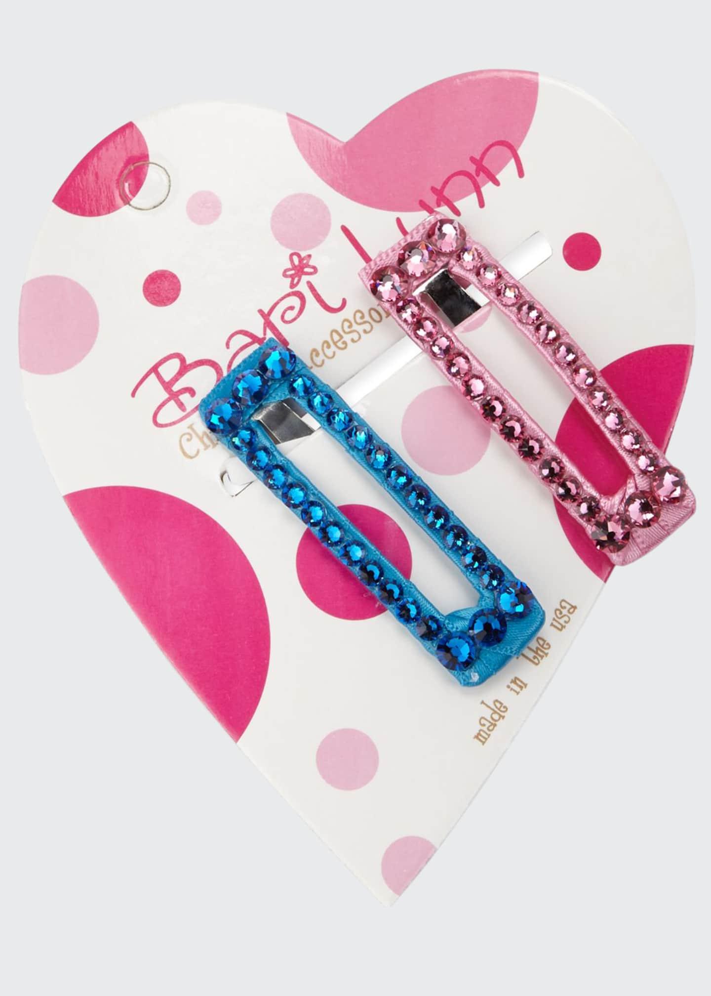 Bari Lynn Aqua & Pink Crystal Hair Clip