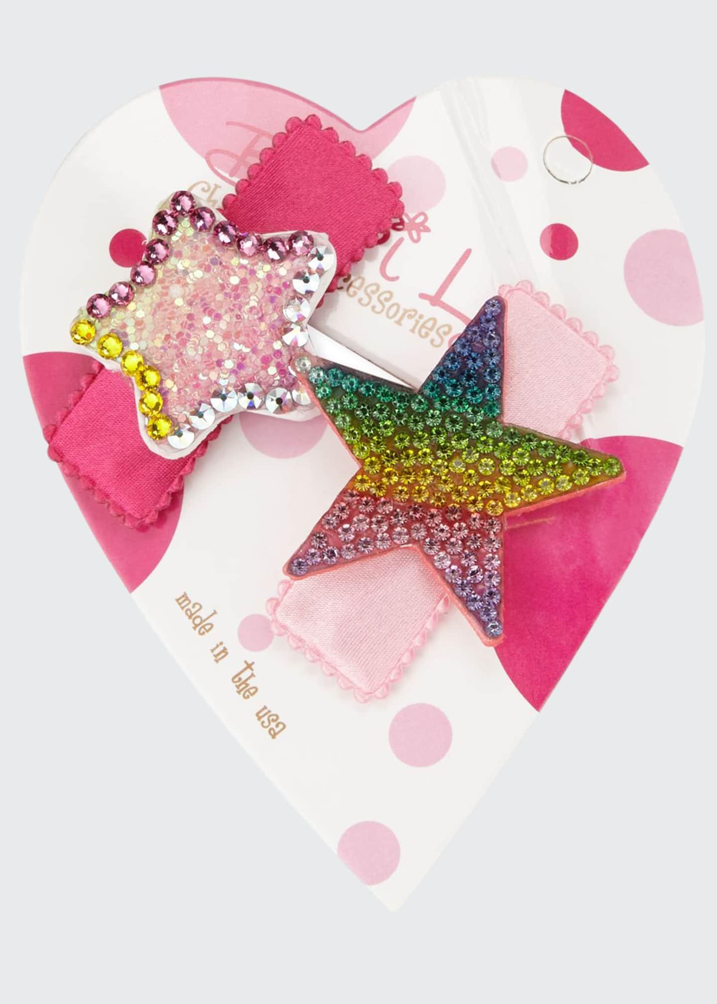 Bari Lynn Pastel & Rainbow Stars Hair Clip