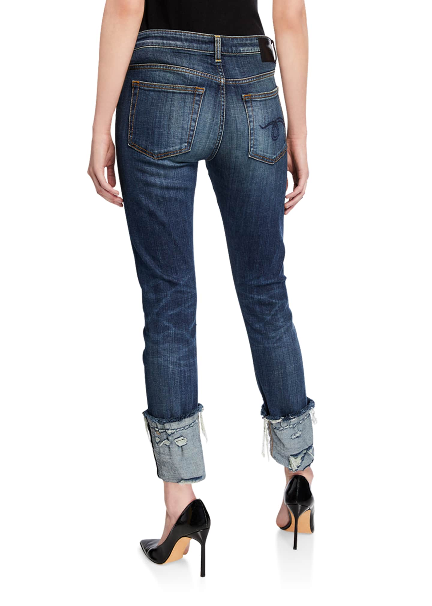 Image 2 of 3: Boy Distressed Skinny Jeans with Cuffs