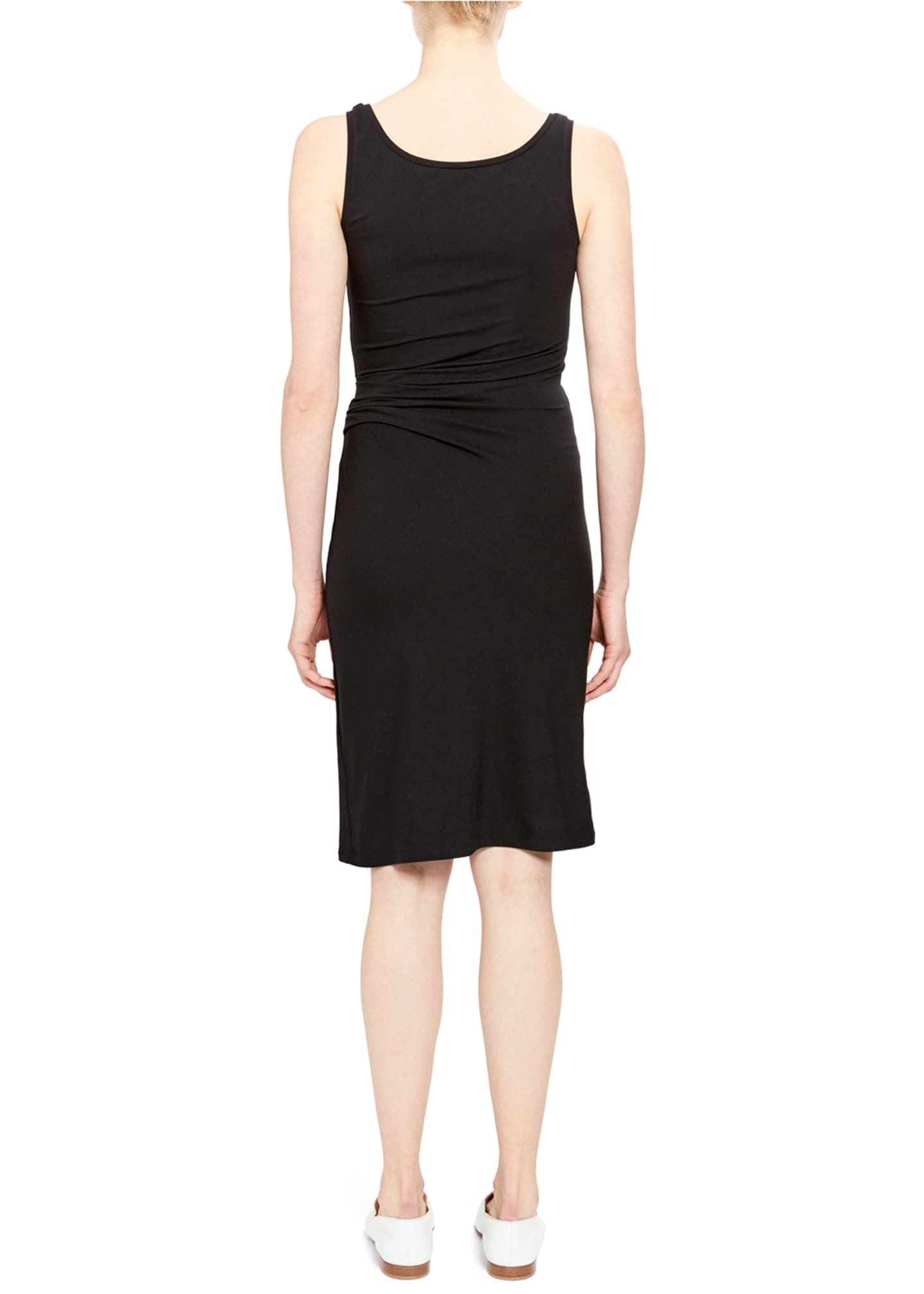 Image 2 of 2: Scoop-Neck Ruched Tank Dress
