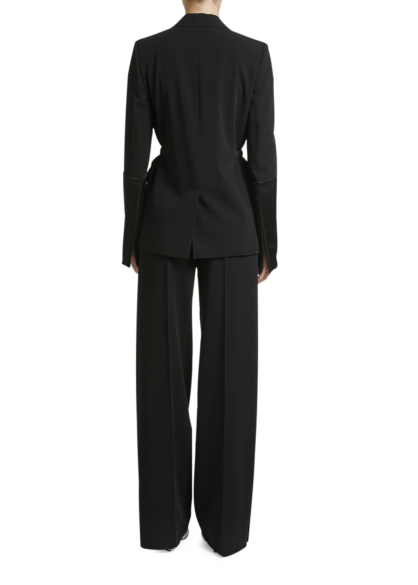 Image 2 of 2: Elastic-Waist Tux Jacket