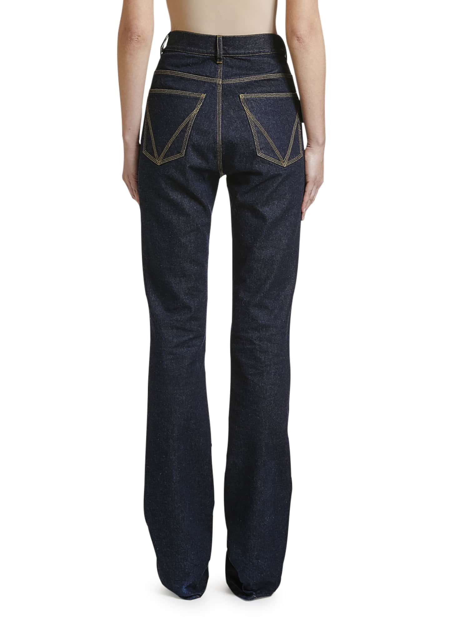 Image 2 of 2: Mid-Rise Wide-Leg Jeans