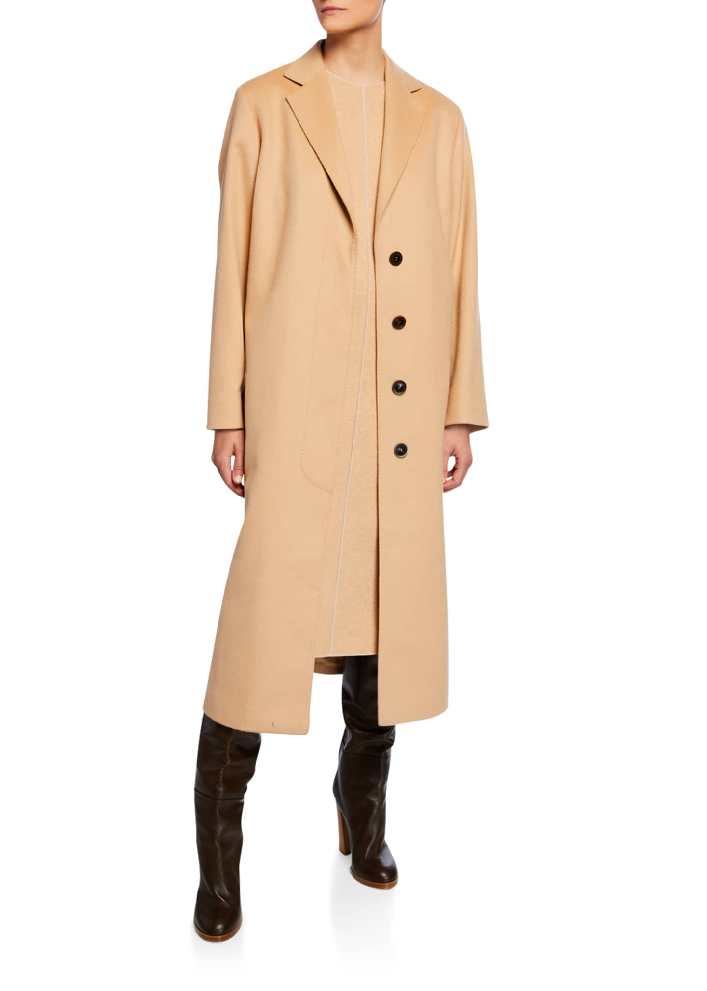 Image 2 of 3: Cashmere Wrap Robe Coat