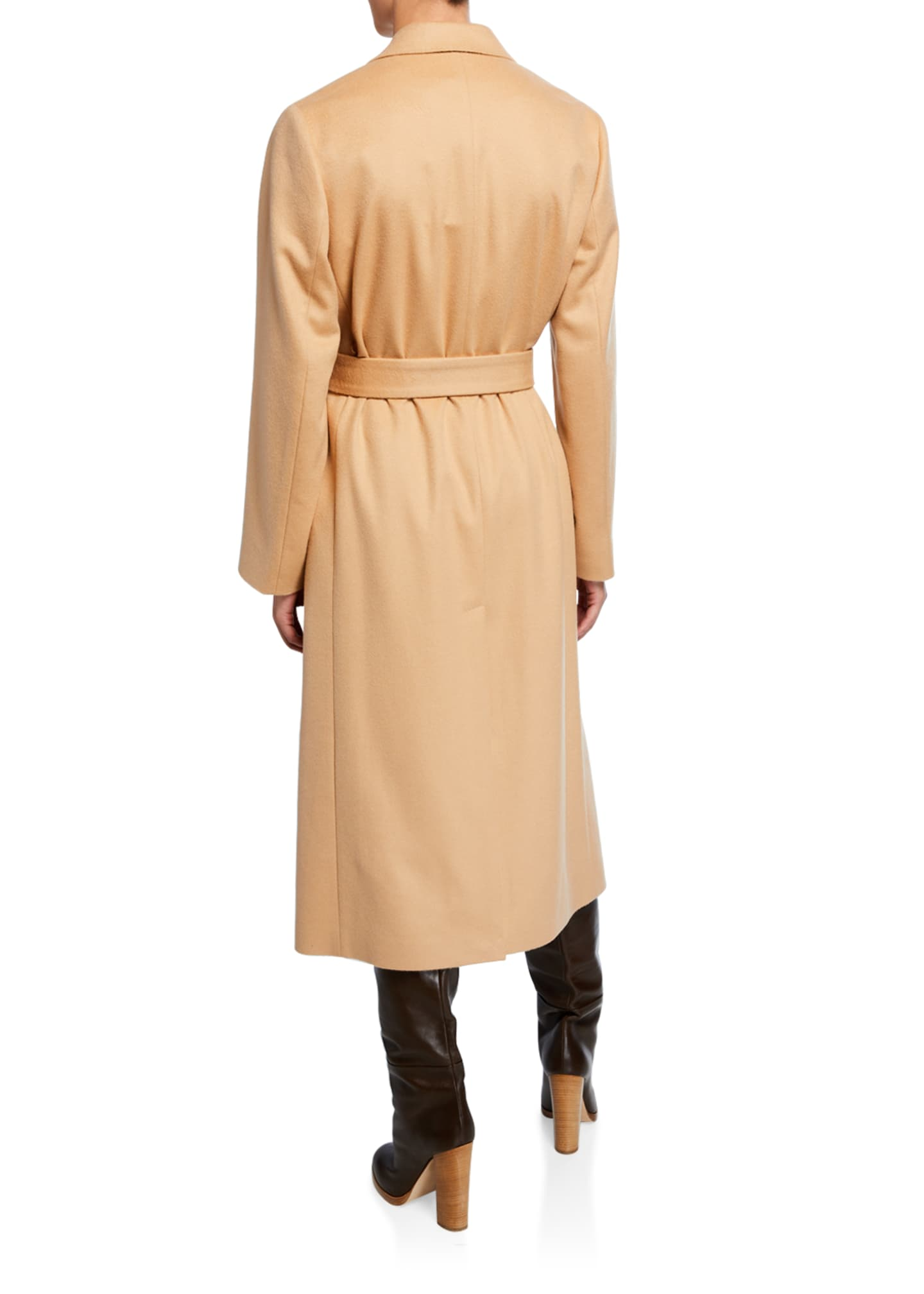 Image 3 of 3: Cashmere Wrap Robe Coat