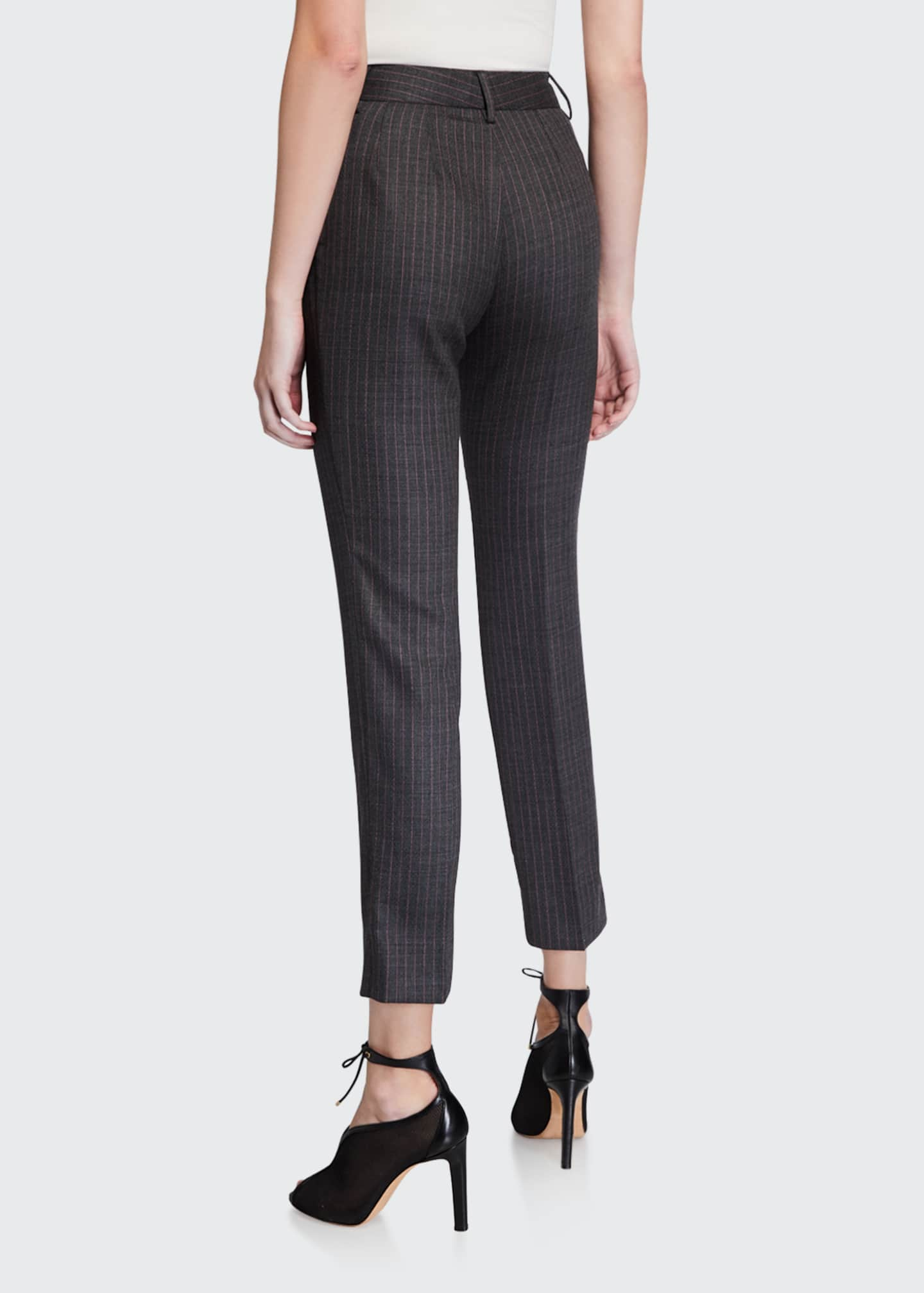 Image 2 of 3: Wool Pinstriped Slim-Leg Pants