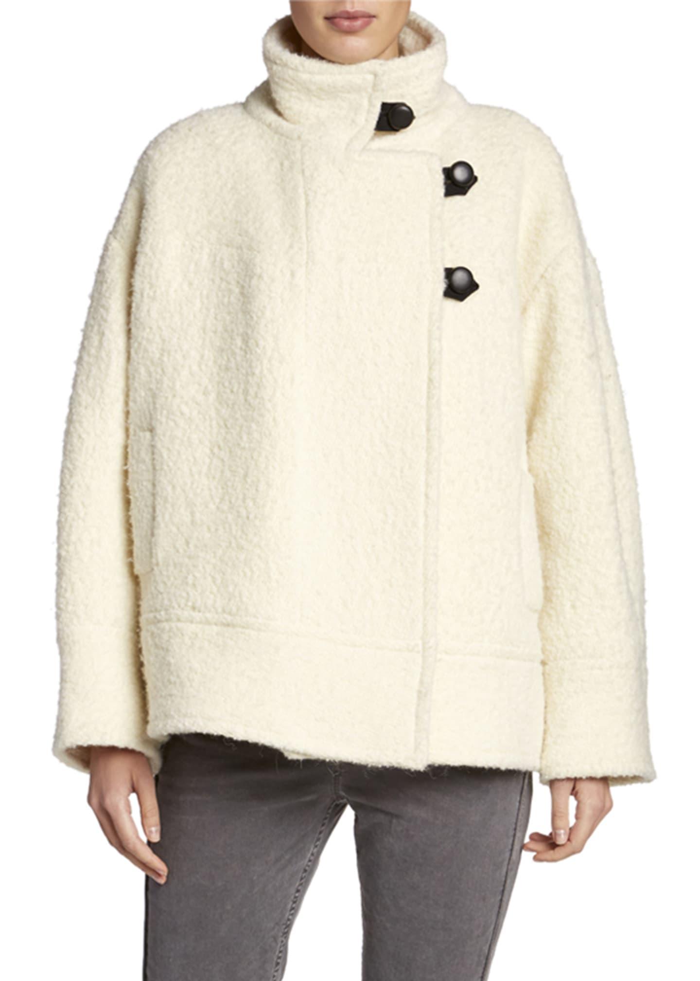 Fagan Button Front Alpaca Coat by Etoile Isabel Marant