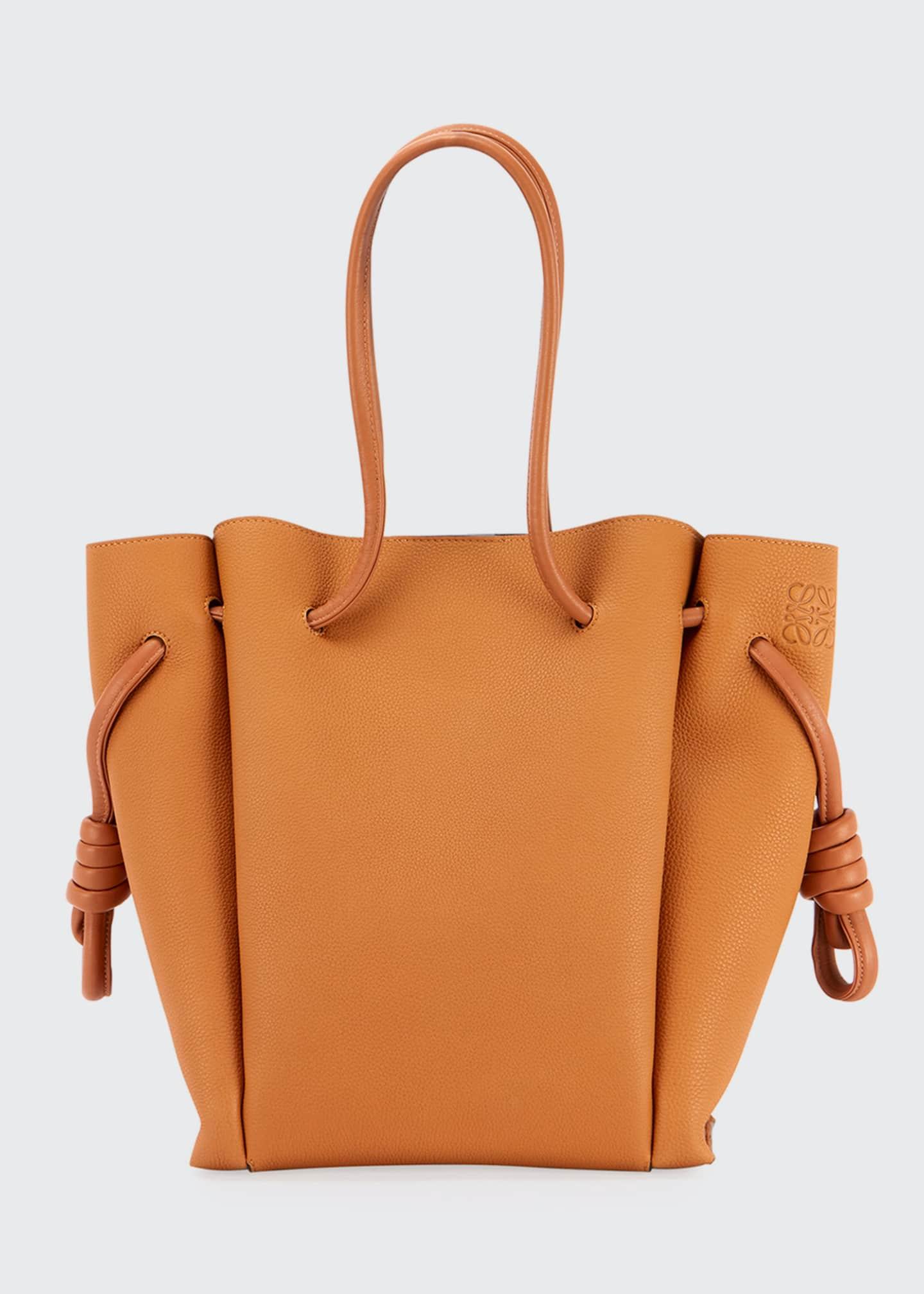 Loewe Flamenco Knot Pebbled Tote Bag