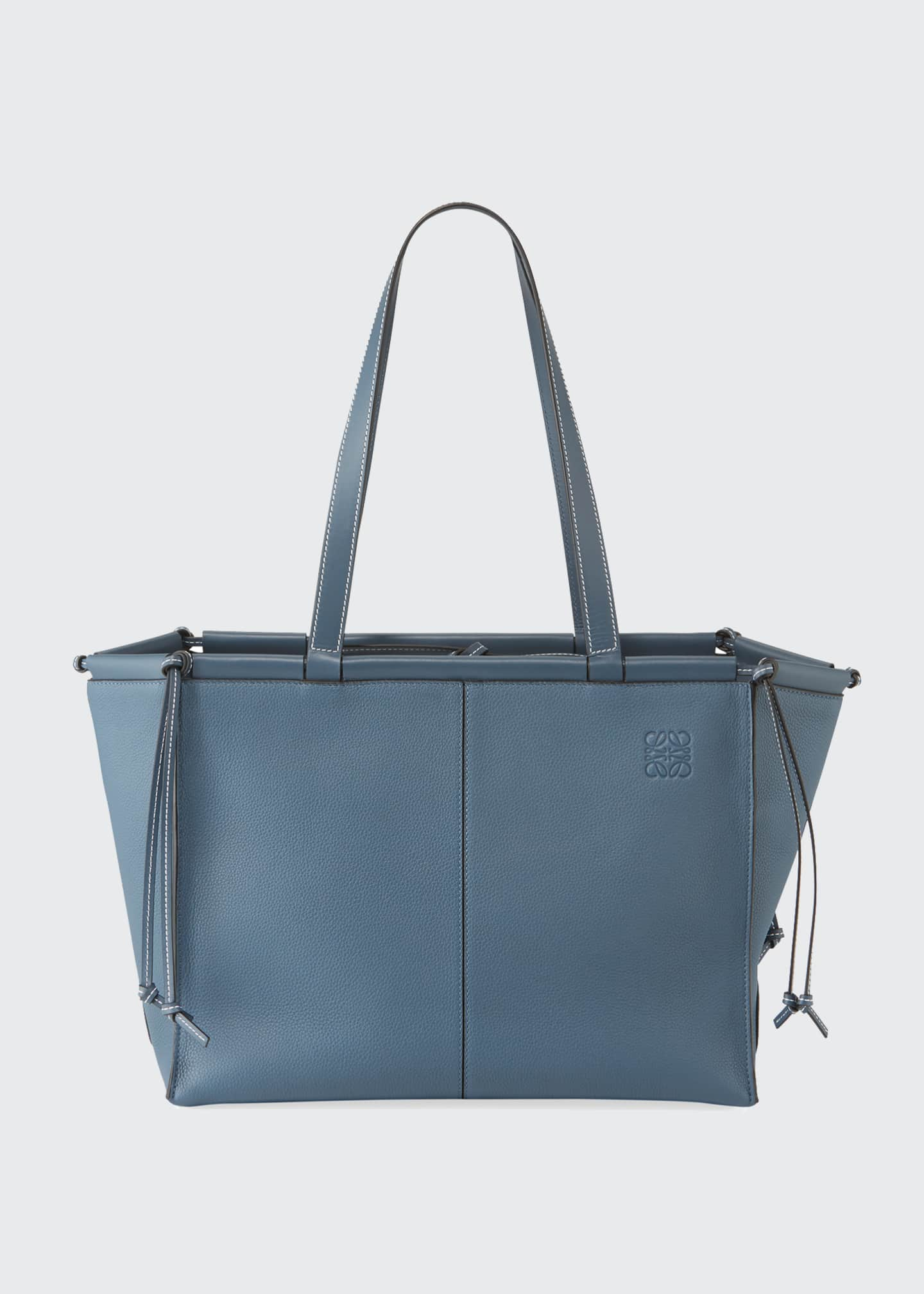 Image 3 of 4: Cushion Soft Grained Calf Leather Tote Bag