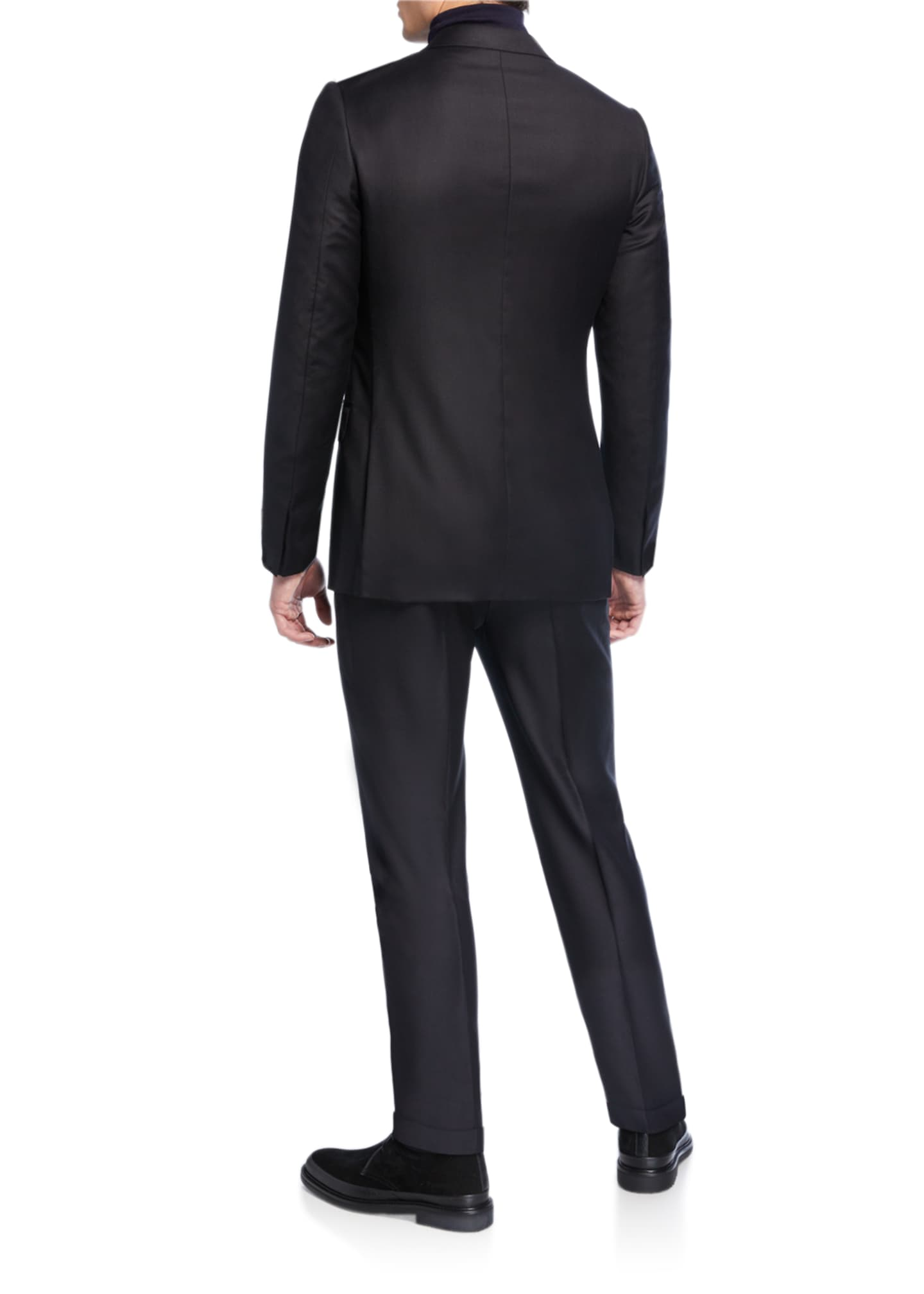 Image 3 of 4: Men's Textured Two-Piece Trim-Fit Wool Silk