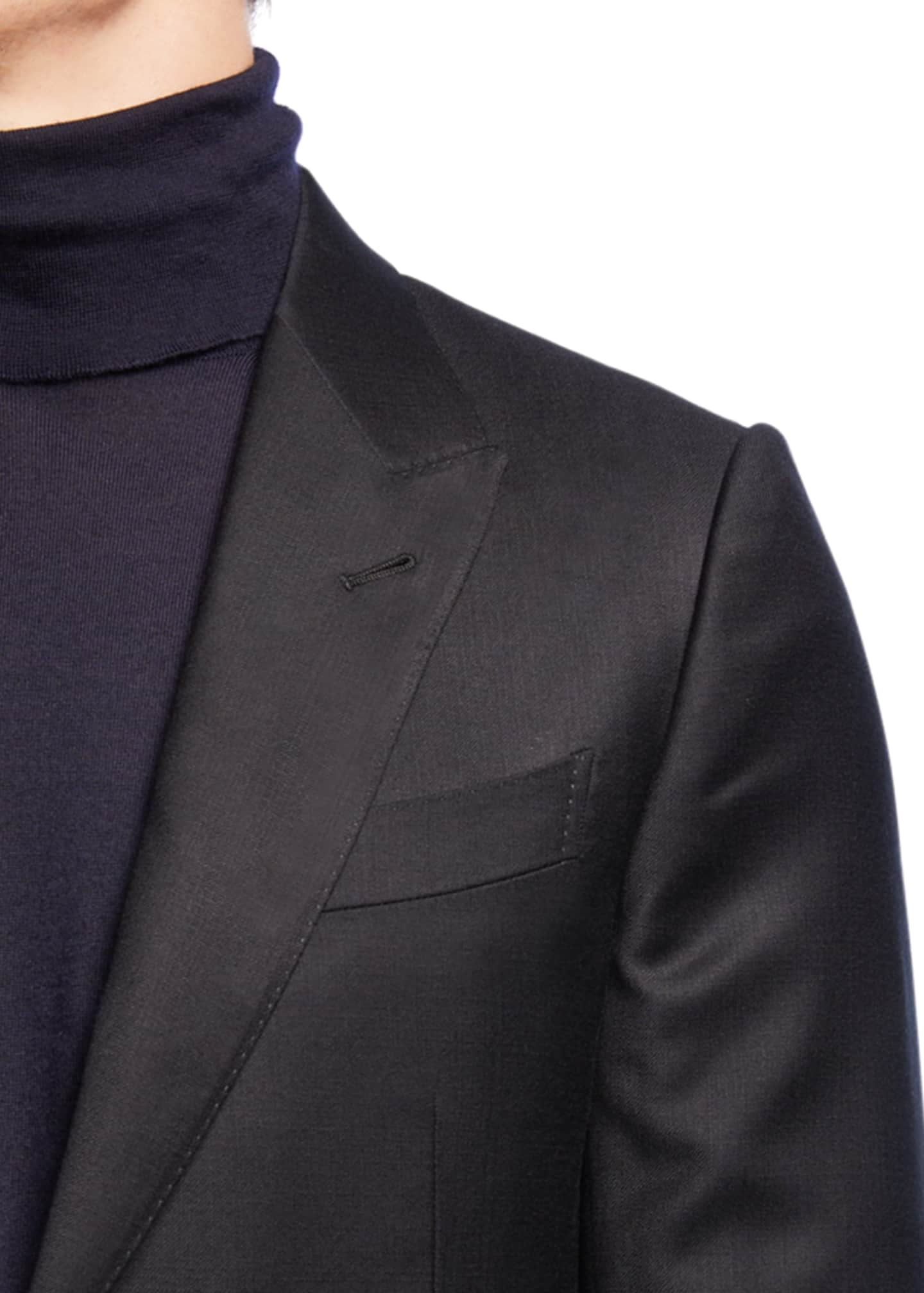 Image 4 of 4: Men's Textured Two-Piece Trim-Fit Wool Silk