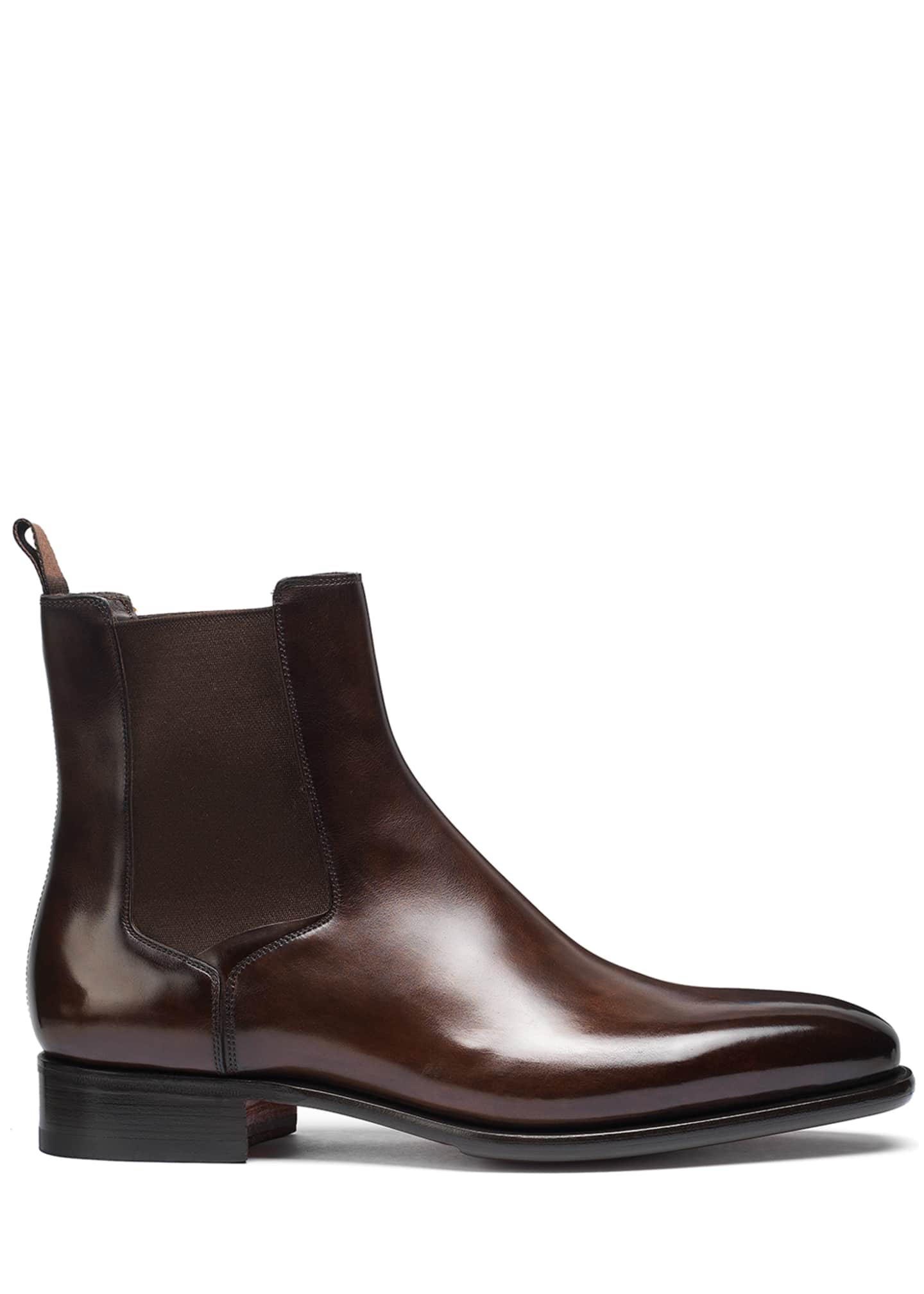 Image 2 of 5: Men's Lock Leather Chelsea Boots