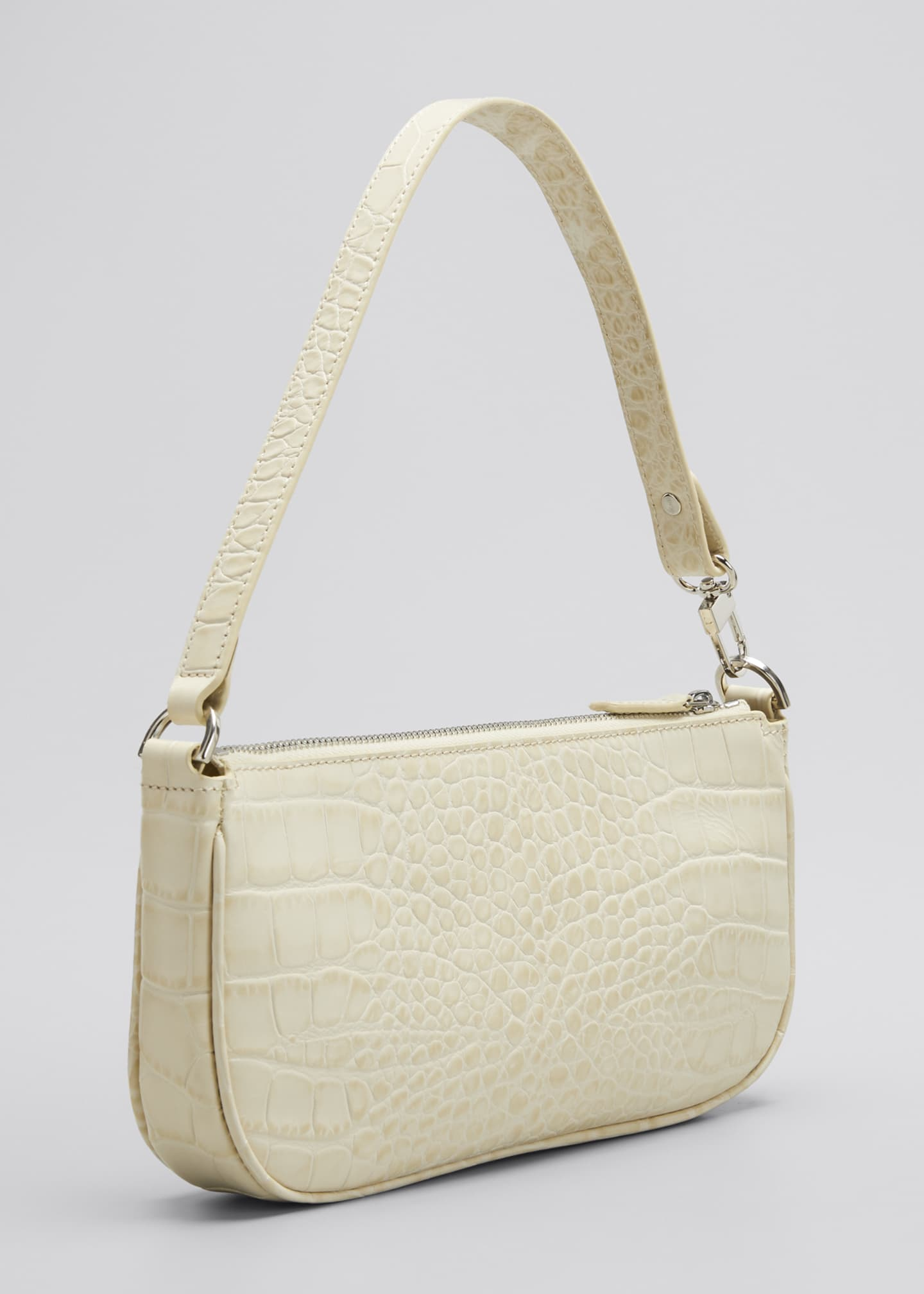 Image 3 of 5: Rachel Small Croc-Embossed Shoulder Bag