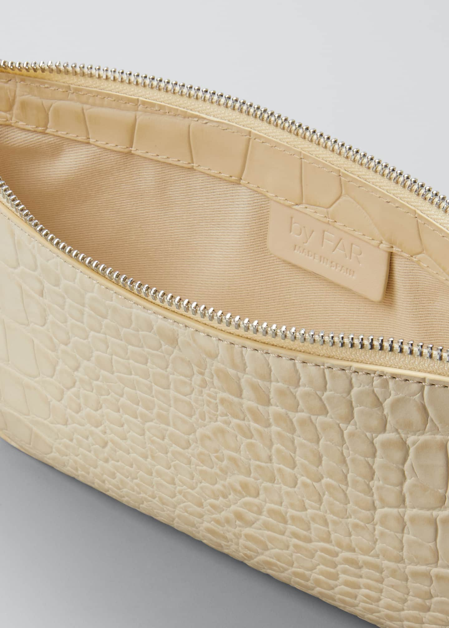 Image 4 of 5: Rachel Small Croc-Embossed Shoulder Bag