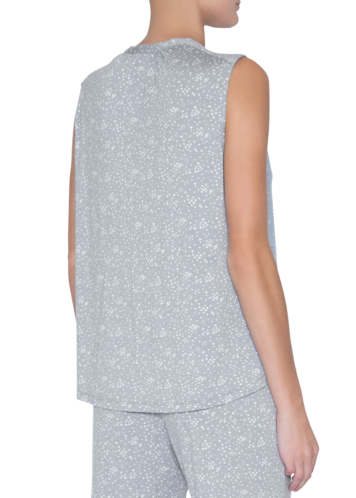 Image 2 of 2: Moon Dots Sleeveless Peasant Top