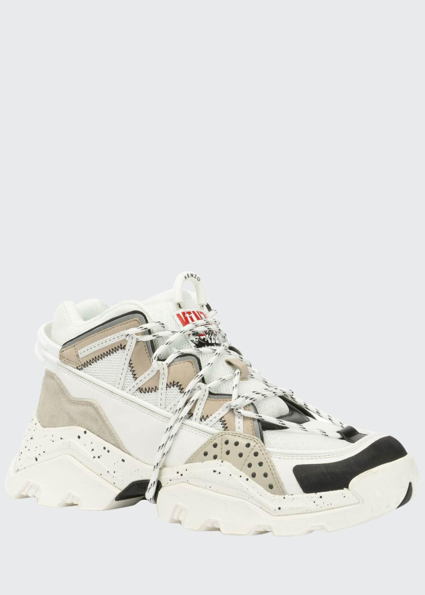 Kenzo Men's Inka Chunky Speckled Wraparound-Lace Sneakers