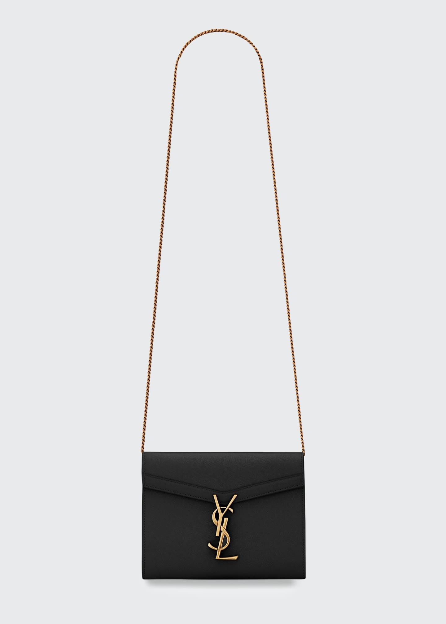 Image 1 of 1: Cassandre YSL Monogram Leather Wallet On Chain