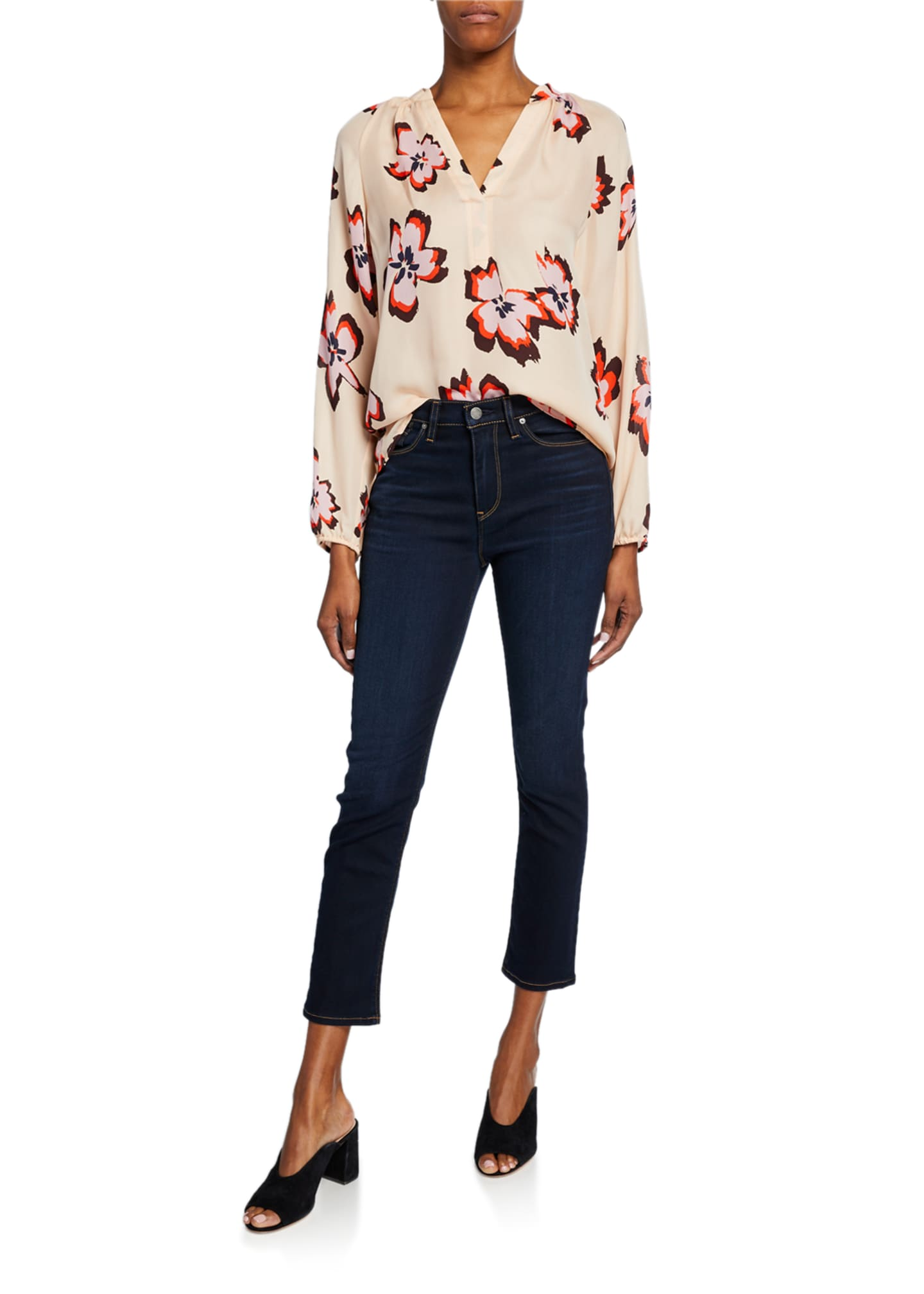 Image 3 of 3: Holly High-Rise Crop Skinny Jeans