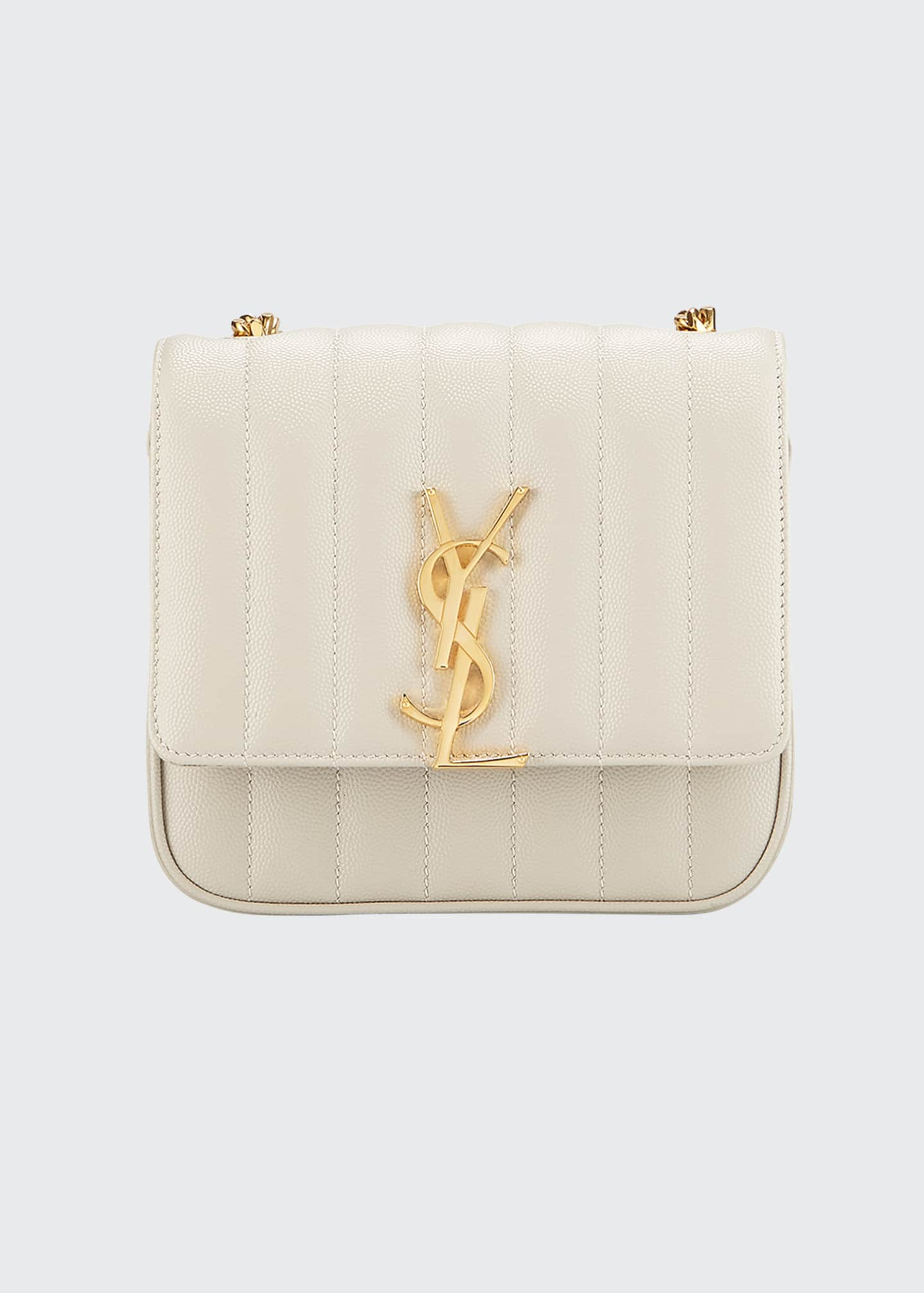 Image 1 of 2: Vicky Small YSL Monogram Quilted Crossbody Bag