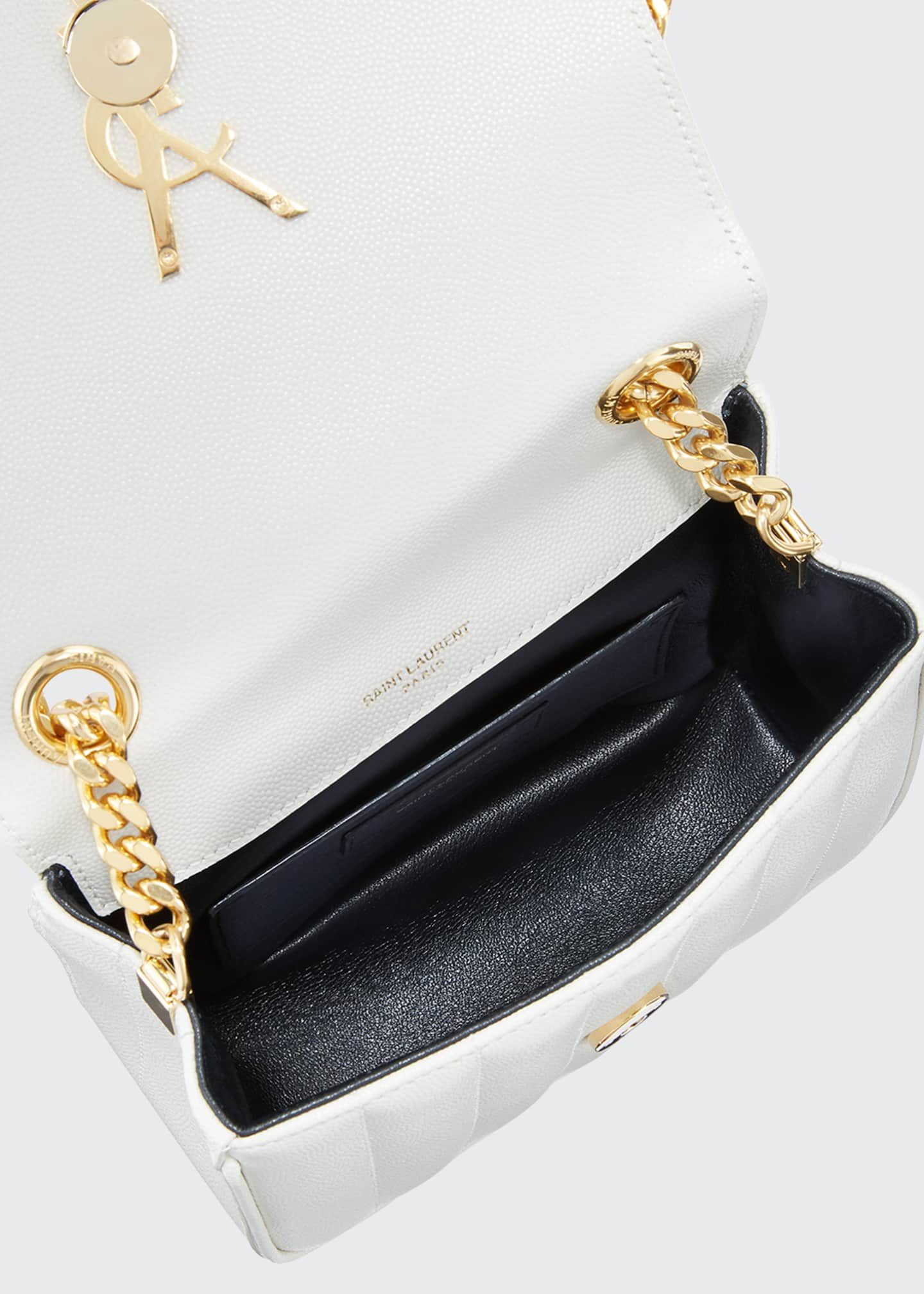 Image 2 of 2: Vicky Small YSL Monogram Quilted Crossbody Bag