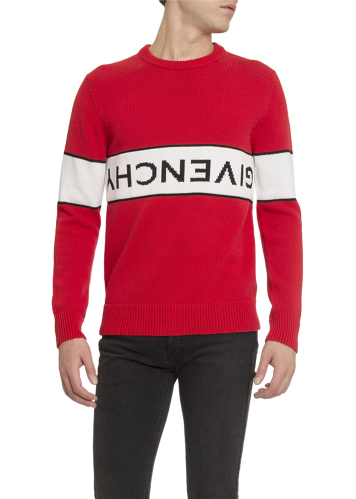 Givenchy Men's Upside Down-Logo Sweater