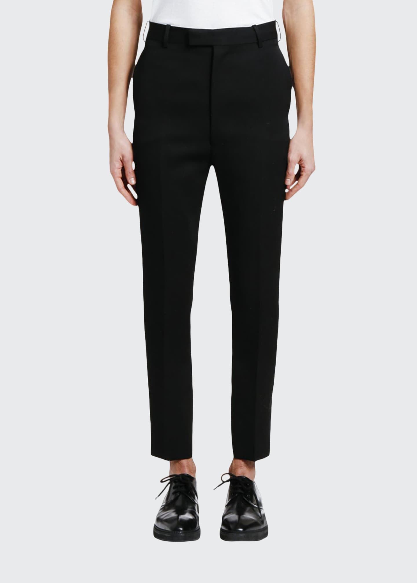 Alexander McQueen Men's Slim-Fit Wool Trousers