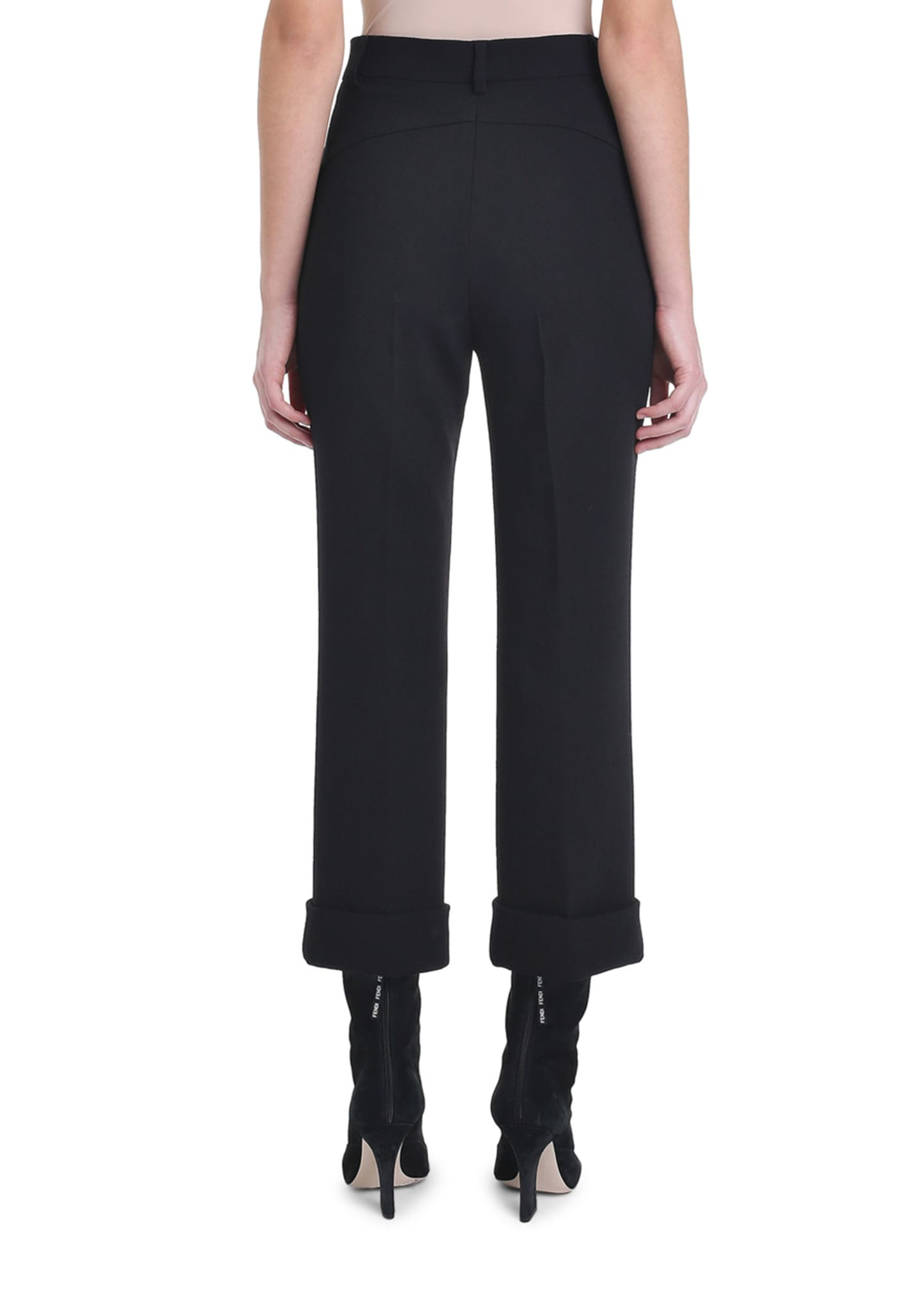 Image 3 of 4: Cropped Wool Crepe Skinny Pants