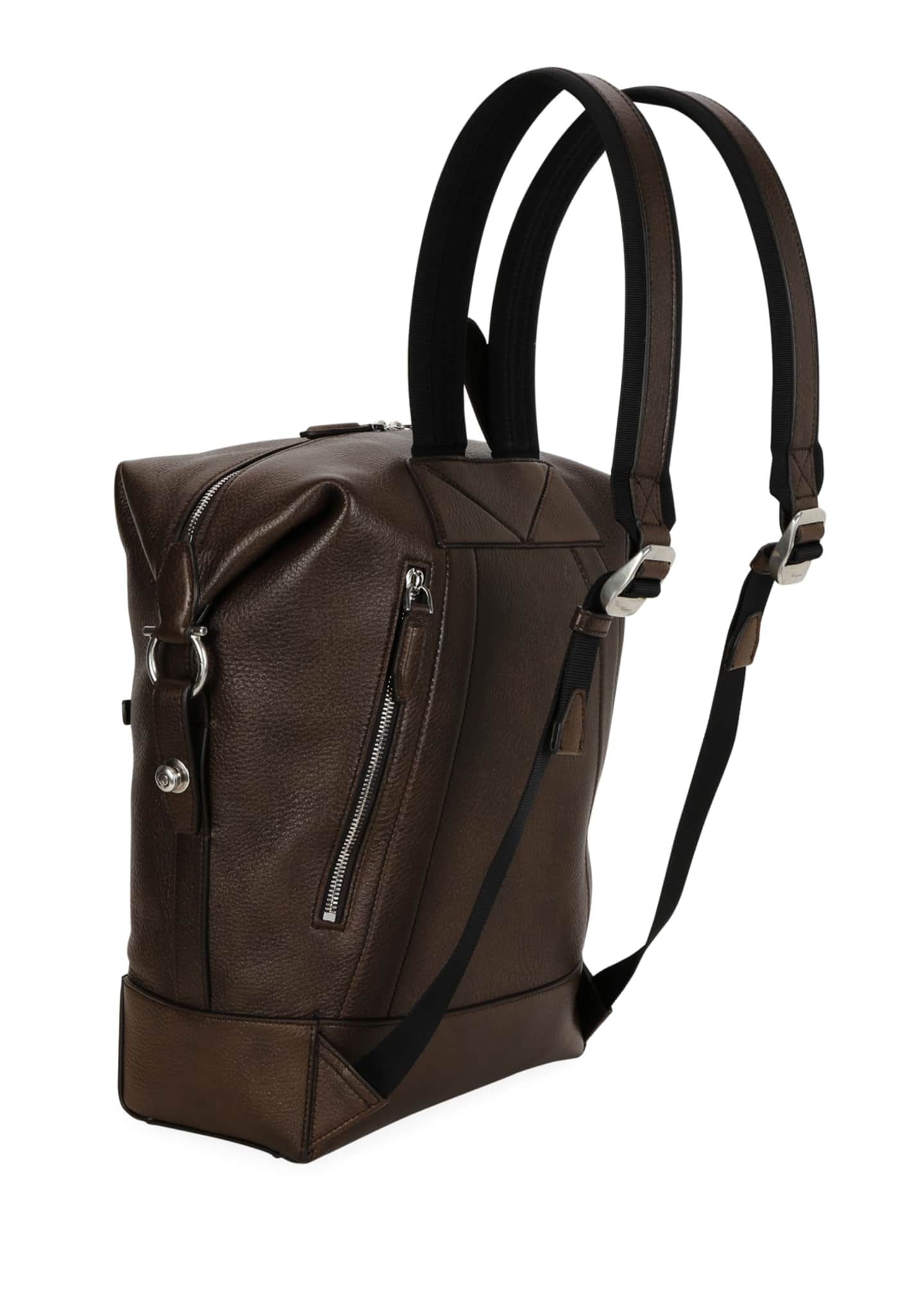 Image 2 of 3: Men's Medium Leather Backpack