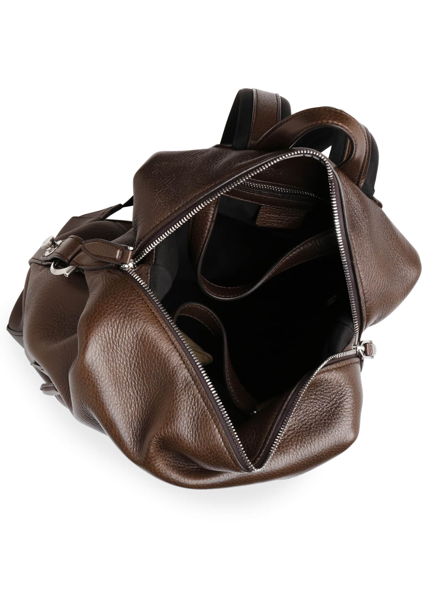 Image 3 of 3: Men's Medium Leather Backpack