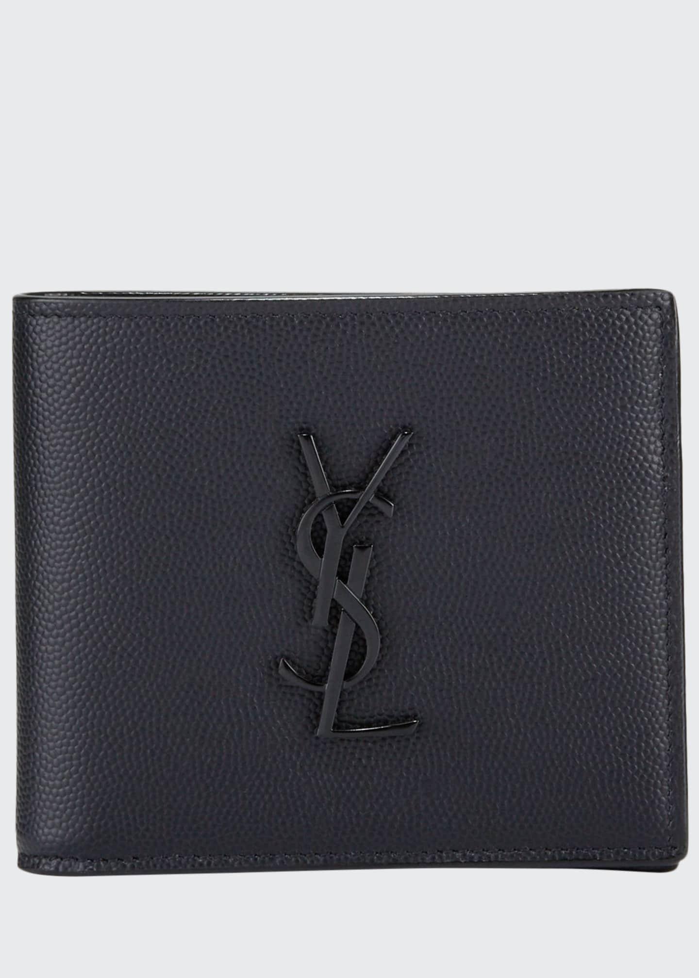 Saint Laurent Men's YSL Monogram Leather Wallet