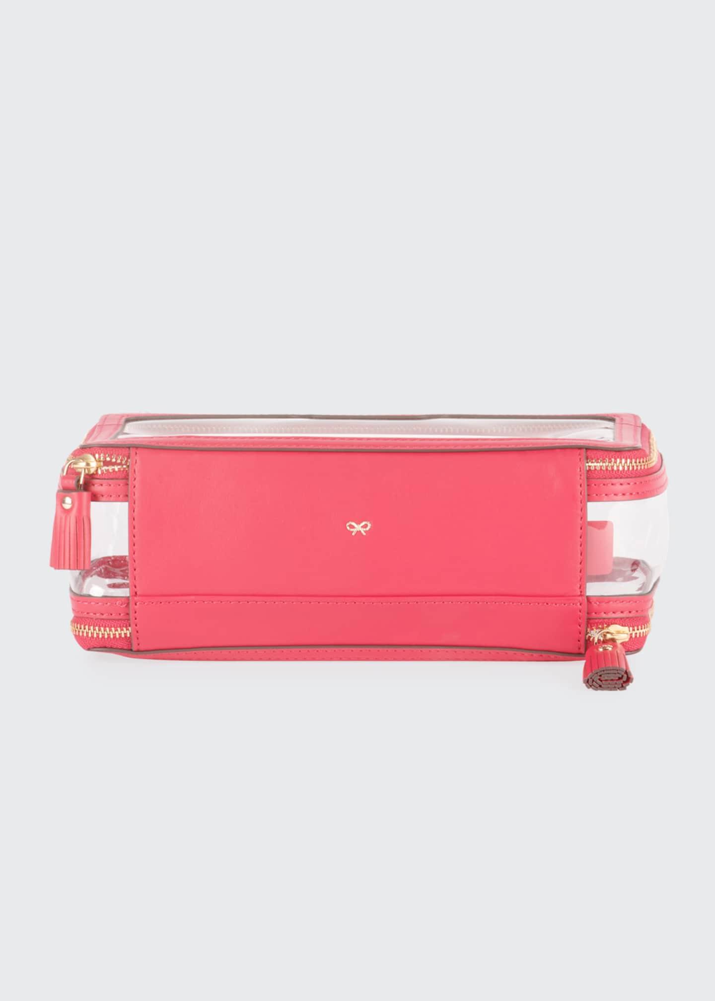 Anya Hindmarch Inflight See-Through Cosmetics Bag, Pink - Bergdorf Goodman