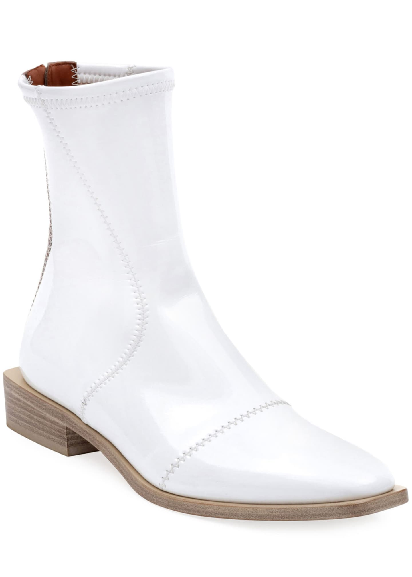 Fendi Flat Neoprene Back-Zip Booties