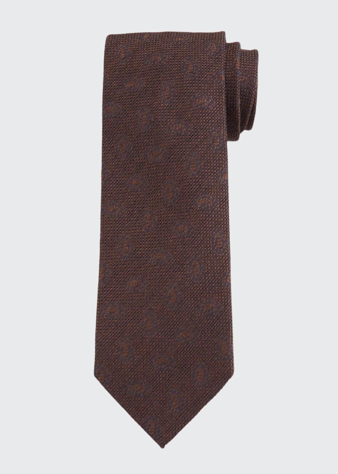 Bigi Men's Solid Jacquard Tie